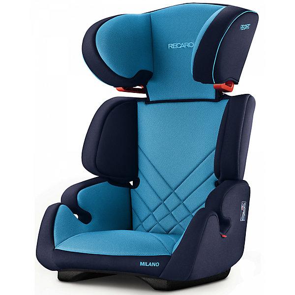 Автокресло RECARO Milano Seatfix 15-36 кг, Xenon BlueГруппа 2-3  (от 15 до 36 кг)<br>Характеристики:<br><br>• группа автокресла: 2/3;<br>• вес ребенка: 15-36 кг;<br>• возраст ребенка: от 3 до 12 лет;<br>• рост ребенка: от 95 до 150 см;<br>• способ крепления: встроенная система IsoFix;<br>• способ установки: лицом по ходу движения автомобиля;<br>• регулируется высота подголовника: 6 положений;<br>• циркуляция воздуха внутри автокресла;<br>• наличие подлокотников;<br>• усиленная боковая защита;<br>• материал: пластик, полиэстер.<br><br>Размеры:<br><br>• размер автокресла: 61х50х45 см;<br>• высота спинки автокресла: 55/67 см;<br>• ширина сиденья: 29 см;<br>• глубина сиденья: 29 см;<br>• ширина подголовника: 20 см;<br>• вес: 6 кг.<br><br>Автокресло Milano Seatfix - продуманный вариант для подросших любителей путешествовать в автомобиле. Автокресло устанавливается на заднем сидении автомобиля с любой стороны. Встроенная система Изофикс позволяет легко и прочно устанавливать автокресло в салоне автомобиля. Регулирование высоты подголовника дает возможность настроить удобное положение в зависимости от того, как ребенок растет. Съемные чехлы можно стирать при температуре 30 градусов без отжима. <br><br>Автокресло Milano Seatfix 15-36 кг., Recaro, Xenon Blue можно купить в нашем интернет-магазине.<br>Ширина мм: 610; Глубина мм: 500; Высота мм: 450; Вес г: 6000; Возраст от месяцев: 36; Возраст до месяцев: 144; Пол: Мужской; Возраст: Детский; SKU: 5396743;