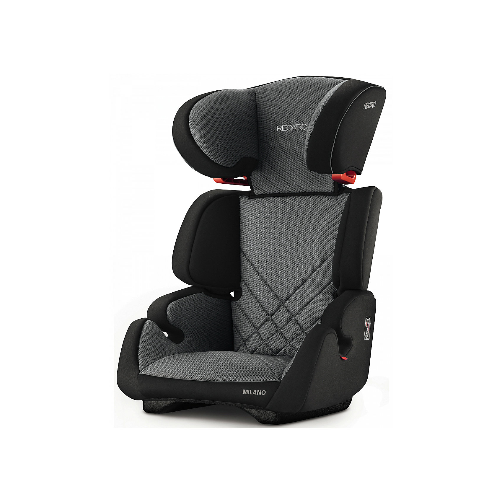 Автокресло Milano Seatfix 15-36 кг., Recaro, Carbon BlackХарактеристики:<br><br>• группа автокресла: 2/3;<br>• вес ребенка: 15-36 кг;<br>• возраст ребенка: от 3 до 12 лет;<br>• рост ребенка: от 95 до 150 см;<br>• способ крепления: встроенная система IsoFix;<br>• способ установки: лицом по ходу движения автомобиля;<br>• регулируется высота подголовника: 6 положений;<br>• циркуляция воздуха внутри автокресла;<br>• наличие подлокотников;<br>• усиленная боковая защита;<br>• материал: пластик, полиэстер.<br><br>Размеры:<br><br>• размер автокресла: 61х50х45 см;<br>• высота спинки автокресла: 55/67 см;<br>• ширина сиденья: 29 см;<br>• глубина сиденья: 29 см;<br>• ширина подголовника: 20 см;<br>• вес: 6 кг.<br><br>Автокресло Milano Seatfix - продуманный вариант для подросших любителей путешествовать в автомобиле. Автокресло устанавливается на заднем сидении автомобиля с любой стороны. Встроенная система Изофикс позволяет легко и прочно устанавливать автокресло в салоне автомобиля. Регулирование высоты подголовника дает возможность настроить удобное положение в зависимости от того, как ребенок растет. Съемные чехлы можно стирать при температуре 30 градусов без отжима. <br><br>Автокресло Milano Seatfix 15-36 кг., Recaro, Carbon Black можно купить в нашем интернет-магазине.<br><br>Ширина мм: 610<br>Глубина мм: 500<br>Высота мм: 450<br>Вес г: 6000<br>Возраст от месяцев: 36<br>Возраст до месяцев: 144<br>Пол: Унисекс<br>Возраст: Детский<br>SKU: 5396744