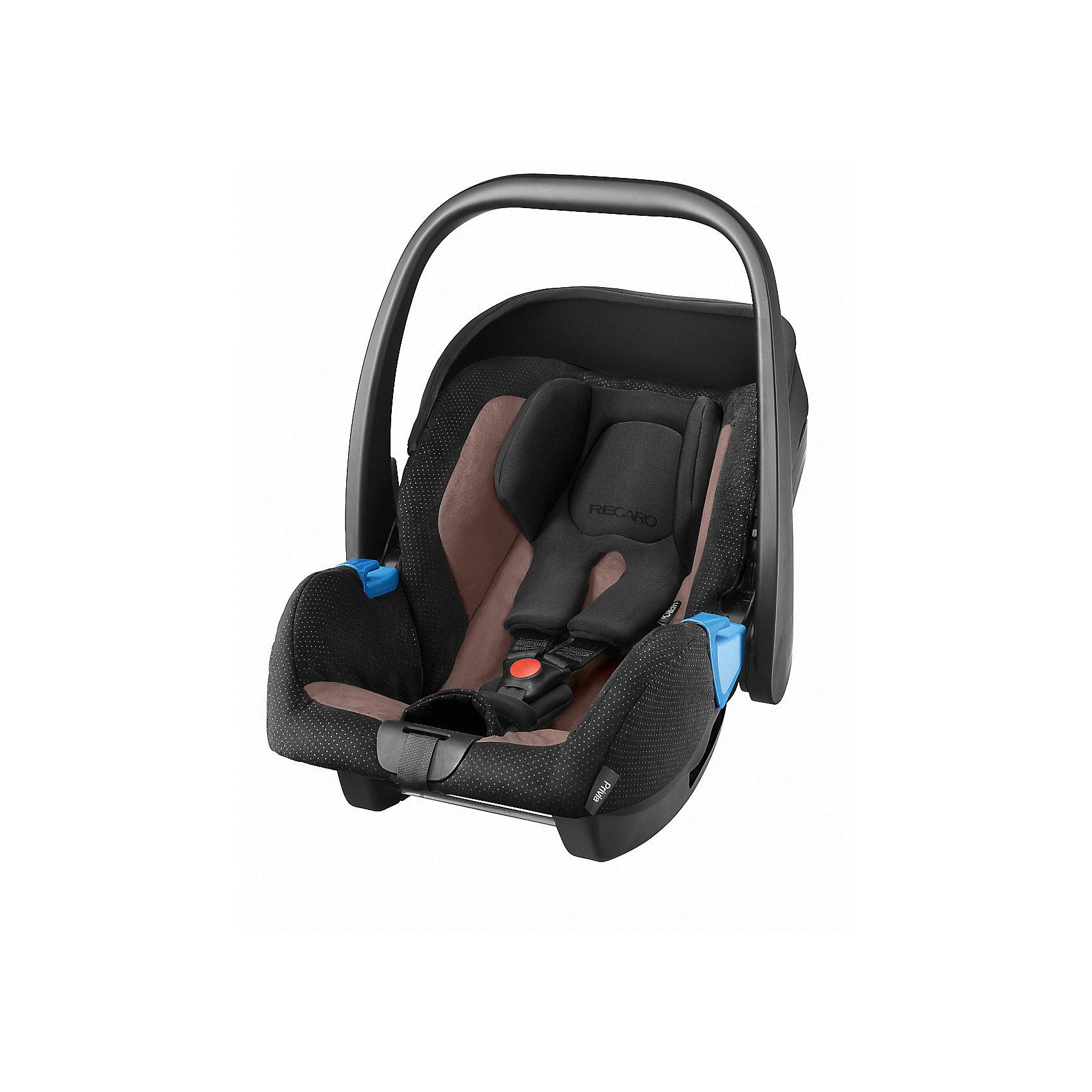 Автокресло RECARO Privia 0-13 кг, MoccaГруппа 0+ (До 13 кг)<br>Характеристики: <br><br>• группа автокресла: 0+;<br>• вес ребенка: до 13 кг;<br>• возраст ребенка: от рождения до 15 месяцев;<br>• способ установки: лицом против хода движения автомобиля;<br>• способ крепления: штатными ремнями безопасности или на базу RecaroFix (база приобретается отдельно);<br>• 3-х точечные ремни безопасности, регулируются по длине;<br>• вкладыш для новорожденного;<br>• регулируемый капюшон;<br>• пластиковая ручка для переноски;<br>• съемные чехлы автокресла, стирка при температуре 30 градусов;<br>• материал: пластик, полиэстер;<br>• размеры автокресла: 65х44х57 см;<br>• вес: 3,7 кг.<br><br>Автокресло Privia – полноценная автолюлька для путешествий с новорожденным. Ручка для переноски дает возможность извлечь автокресло из салона автомобиля даже со спящим малышом, не потревожив его сон. Автокресло устанавливается на шасси различных колясок с помощью адаптеров. <br><br>Автокресло Privia 0-13 кг., Recaro, Mocca можно купить в нашем интернет-магазине.<br><br>Ширина мм: 650<br>Глубина мм: 440<br>Высота мм: 570<br>Вес г: 3700<br>Возраст от месяцев: 0<br>Возраст до месяцев: 12<br>Пол: Унисекс<br>Возраст: Детский<br>SKU: 5396748