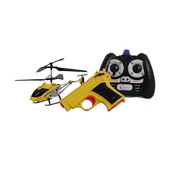 Вертолет на р/у Снайпер с пистолетом, желтый, Властелин небесРадиоуправляемые вертолёты<br>Вертолет на р/у Снайпер с пистолетом, желтый, Властелин небес<br><br>Характеристики:<br><br>• вертолет можно сбивать с помощью пистолета, входящего в комплект<br>• вертолет летает вверх, вниз, в стороны, а также поворачивается и зависает в воздухе<br>• светящиеся сигнальные огни<br>• встроенный гироскоп<br>• лопасти складываются при падении<br>• расстояние пульта: до 15 метров<br>• скорость: до 10 км/ч<br>• батарейки для пульта: АА - 6 шт. (не входят в комплект)<br>• батарейки для пистолета: АА - 2 шт. (не входят в комплект)<br>• в комплекте: вертолет, ИК-пульт, ИК-пистолет, аккумулятор, зарядное устройство<br>• материал: металл, пластик<br>• размер: 20х4х11 см<br>• питание: аккумулятор 3,7 V Li-poliy<br>• размер упаковки: 43,5х7х25,5 см<br>• вес: 700 грамм<br>• цвет: желтый<br><br>Вертолет Снайпер идеально подходит для игры вдвоем. Один игрок управляет вертолетом с помощью пульта, а второй пытается сбить вертолет пистолетом. Чтобы сбить вертолет, нужно попасть в него 3 раза. Игрушка изготовлена из прочных материалов и хорошо выдерживает падения с большой высоты. При этом лопасти складываются во избежание повреждений. Вертолет оснащен светящимися сигнальными огнями, которые помогут отыскать его в темноте. Радиус действия пульта - до 15 метров. Вы сможете играть на большом расстоянии для лучшего обзора. Вертолет может летать вверх, вниз, в стороны и совершать повороты. А благодаря встроенному гироскопу, игрушка способна висеть в воздухе.<br>Для работы пульта необходимы 6 батареек АА, для работы пистолета - 2 батарейки АА.<br><br>Вертолет на р/у Снайпер с пистолетом, желтый, Властелин небес вы можете купить в нашем интернет-магазине.<br><br>Ширина мм: 70<br>Глубина мм: 350<br>Высота мм: 265<br>Вес г: 810<br>Возраст от месяцев: 108<br>Возраст до месяцев: 2147483647<br>Пол: Мужской<br>Возраст: Детский<br>SKU: 5397081