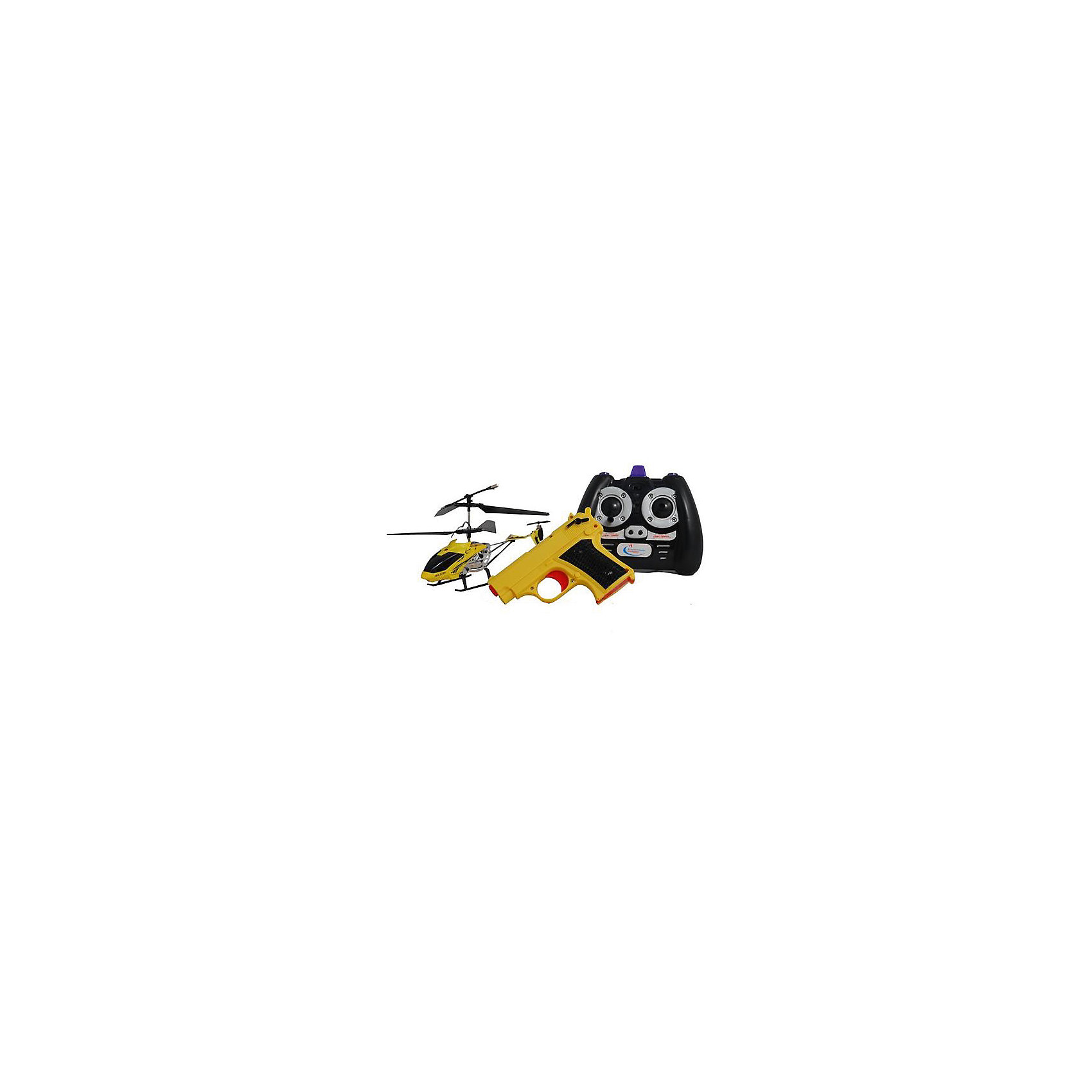 Вертолет на р/у Снайпер с пистолетом, желтый, Властелин небесВертолет на р/у Снайпер с пистолетом, желтый, Властелин небес<br><br>Характеристики:<br><br>• вертолет можно сбивать с помощью пистолета, входящего в комплект<br>• вертолет летает вверх, вниз, в стороны, а также поворачивается и зависает в воздухе<br>• светящиеся сигнальные огни<br>• встроенный гироскоп<br>• лопасти складываются при падении<br>• расстояние пульта: до 15 метров<br>• скорость: до 10 км/ч<br>• батарейки для пульта: АА - 6 шт. (не входят в комплект)<br>• батарейки для пистолета: АА - 2 шт. (не входят в комплект)<br>• в комплекте: вертолет, ИК-пульт, ИК-пистолет, аккумулятор, зарядное устройство<br>• материал: металл, пластик<br>• размер: 20х4х11 см<br>• питание: аккумулятор 3,7 V Li-poliy<br>• размер упаковки: 43,5х7х25,5 см<br>• вес: 700 грамм<br>• цвет: желтый<br><br>Вертолет Снайпер идеально подходит для игры вдвоем. Один игрок управляет вертолетом с помощью пульта, а второй пытается сбить вертолет пистолетом. Чтобы сбить вертолет, нужно попасть в него 3 раза. Игрушка изготовлена из прочных материалов и хорошо выдерживает падения с большой высоты. При этом лопасти складываются во избежание повреждений. Вертолет оснащен светящимися сигнальными огнями, которые помогут отыскать его в темноте. Радиус действия пульта - до 15 метров. Вы сможете играть на большом расстоянии для лучшего обзора. Вертолет может летать вверх, вниз, в стороны и совершать повороты. А благодаря встроенному гироскопу, игрушка способна висеть в воздухе.<br>Для работы пульта необходимы 6 батареек АА, для работы пистолета - 2 батарейки АА.<br><br>Вертолет на р/у Снайпер с пистолетом, желтый, Властелин небес вы можете купить в нашем интернет-магазине.<br><br>Ширина мм: 70<br>Глубина мм: 350<br>Высота мм: 265<br>Вес г: 810<br>Возраст от месяцев: 108<br>Возраст до месяцев: 2147483647<br>Пол: Мужской<br>Возраст: Детский<br>SKU: 5397081