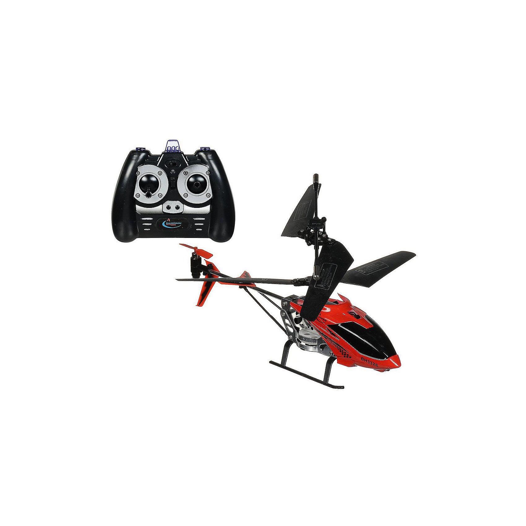 Вертолет на на р/у Снайпер с пистолетом, красный, Властелин небесРадиоуправляемый транспорт<br>Вертолет на р/у Снайпер с пистолетом, красный, Властелин небес<br><br>Характеристики:<br><br>• вертолет можно сбивать с помощью пистолета, входящего в комплект<br>• вертолет летает вверх, вниз, в стороны, а также поворачивается и зависает в воздухе<br>• светящиеся сигнальные огни<br>• встроенный гироскоп<br>• лопасти складываются при падении<br>• расстояние пульта: до 15 метров<br>• скорость: до 10 км/ч<br>• батарейки для пульта: АА - 6 шт. (не входят в комплект)<br>• батарейки для пистолета: АА - 2 шт. (не входят в комплект)<br>• в комплекте: вертолет, ИК-пульт, ИК-пистолет, аккумулятор, зарядное устройство<br>• материал: металл, пластик<br>• размер: 20х4х11 см<br>• питание: аккумулятор 3,7 V Li-poliy<br>• размер упаковки: 43,5х7х25,5 см<br>• вес: 700 грамм<br>• цвет: красный<br><br>Вертолет Снайпер идеально подходит для игры вдвоем. Один игрок управляет вертолетом с помощью пульта, а второй пытается сбить вертолет пистолетом. Чтобы сбить вертолет, нужно попасть в него 3 раза. Игрушка изготовлена из прочных материалов и хорошо выдерживает падения с большой высоты. При этом лопасти складываются во избежание повреждений. Вертолет оснащен светящимися сигнальными огнями, которые помогут отыскать его в темноте. Радиус действия пульта - до 15 метров. Вы сможете играть на большом расстоянии для лучшего обзора. Вертолет может летать вверх, вниз, в стороны и совершать повороты. А благодаря встроенному гироскопу, игрушка способна висеть в воздухе.<br>Для работы пульта необходимы 6 батареек АА, для работы пистолета - 2 батарейки АА.<br><br>Вертолет на р/у Снайпер с пистолетом, красный, Властелин небес вы можете купить в нашем интернет-магазине.<br><br>Ширина мм: 70<br>Глубина мм: 350<br>Высота мм: 265<br>Вес г: 810<br>Возраст от месяцев: 108<br>Возраст до месяцев: 2147483647<br>Пол: Мужской<br>Возраст: Детский<br>SKU: 5397082