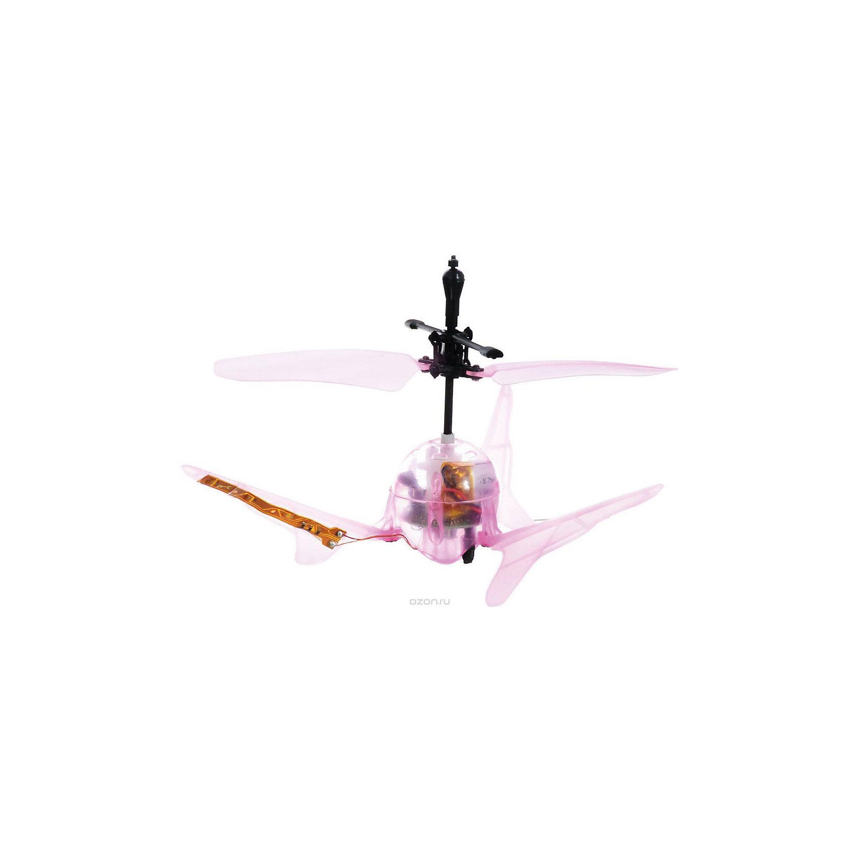 Вертолет Супер Светлячок на и/у со световыми эффектами, розовый, Властелин небесРадиоуправляемый транспорт<br>Вертолет Супер Светлячок на и/у со световыми эффектами, розовый, Властелин небес<br><br>Характеристики:<br><br>• вертолет очень похож на светлячка<br>• светится в темноте<br>• оригинальный дизайн и небольшие размеры<br>• поднимается вверх, опускается вниз и зависает в воздухе<br>• светящиеся сигнальные огни<br>• инфракрасное и сенсорное управление<br>• полная зарядка за 20 минут<br>• расстояние до пульта: 7 метров<br>• вертолет, аккумулятор 3,7V, зарядное устройство<br>• размер вертолета: 9х5х5 см<br>• материал: пластик, металл<br>• вес: 319 грамм<br>• размер упаковки: 15х29,5х16 см<br>• вес: 800 грамм<br>• батарейки для пульта: 3xAA / LR06 1.5V ( в комплекте)<br>• батарейки для зарядного устройства: 8xAA / LR06 1.5V ( в комплект не входят)<br>• цвет: розовый<br><br>Супер Светлячок - забавный вертолет на инфракрасном управлении. Своим видом он напоминает маленького светлячка. Также, подобно светлячку, вертолет светится в темноте и освещает помещение сигнальными огнями. Супер Светлячок умеет летать вверх и вниз, а также зависает в воздухе. Есть возможность выбора управления: сенсорное и ручное. Время полета составляет до 10 минут, время полной подзарядки - 20 минут. Вертолет может летать на расстоянии до 7 метров от пульта управления. Супер Светлячок очарует своими огоньками и детей, и взрослых!<br>Для работы необходимы батарейки.<br><br>Вертолет Супер Светлячок на и/у со световыми эффектами, розовый, Властелин небес можно купить в нашем интернет-магазине.<br><br>Ширина мм: 130<br>Глубина мм: 185<br>Высота мм: 155<br>Вес г: 320<br>Возраст от месяцев: 108<br>Возраст до месяцев: 2147483647<br>Пол: Мужской<br>Возраст: Детский<br>SKU: 5397088