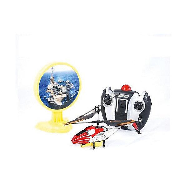 Вертолет на р/у с инфракрасной пушкой и мишенью, красный, Властелин небесРадиоуправляемые вертолёты<br>Вертолет на р/у с инфракрасной пушкой и мишенью, красный, Властелин небес<br><br>Характеристики:<br><br>• сбейте авианосец с помощью пульта управления<br>• мишень воспроизводит реалистичные звуки<br>• при попадании в цель загораются огни<br>• вертолет летает в любую сторону и поворачивается<br>• встроенный гироскоп<br>• в комплекте: вертолет, пульт управления, запасной хвостовой винт, 2 лопасти<br>• время полета: 6-9 минут<br>• радиус действия: до 20 метров<br>• размер вертолета: 21х4х10 см<br>• диаметр основного винта: 19 см<br>• диаметр хвостового винта: 3 см<br>• вес: 770 грамм<br>• материал: металл, пластик<br>• батарейки: АА / LR6/1,5V (не входят в комплект)<br>• цвет: красный<br><br>Вертолет Лазерная атака поможет весело провести время! Цель игры - сбить вражескую мишень стрельбой. Нажмите на красную кнопку пульта - начнется стрельба. При попадании в центр мишени появляются яркие огоньки. Сама мишень издает реалистичные звуки, подобно настоящему авианосцу. Вертолет летает во все стороны и разворачивается, а встроенный гироскоп обеспечивает стабильность. Дальность действия - 20 метров, что позволяет играть не только в помещении, но и на улице в безветренную погоду. <br>Для работы необходимы пальчиковые батарейки (в комплект не входят).<br><br>Вертолет на р/у с инфракрасной пушкой и мишенью, красный, Властелин небес вы можете купить в нашем интернет-магазине.<br><br>Ширина мм: 150<br>Глубина мм: 295<br>Высота мм: 160<br>Вес г: 770<br>Возраст от месяцев: 108<br>Возраст до месяцев: 2147483647<br>Пол: Мужской<br>Возраст: Детский<br>SKU: 5397089