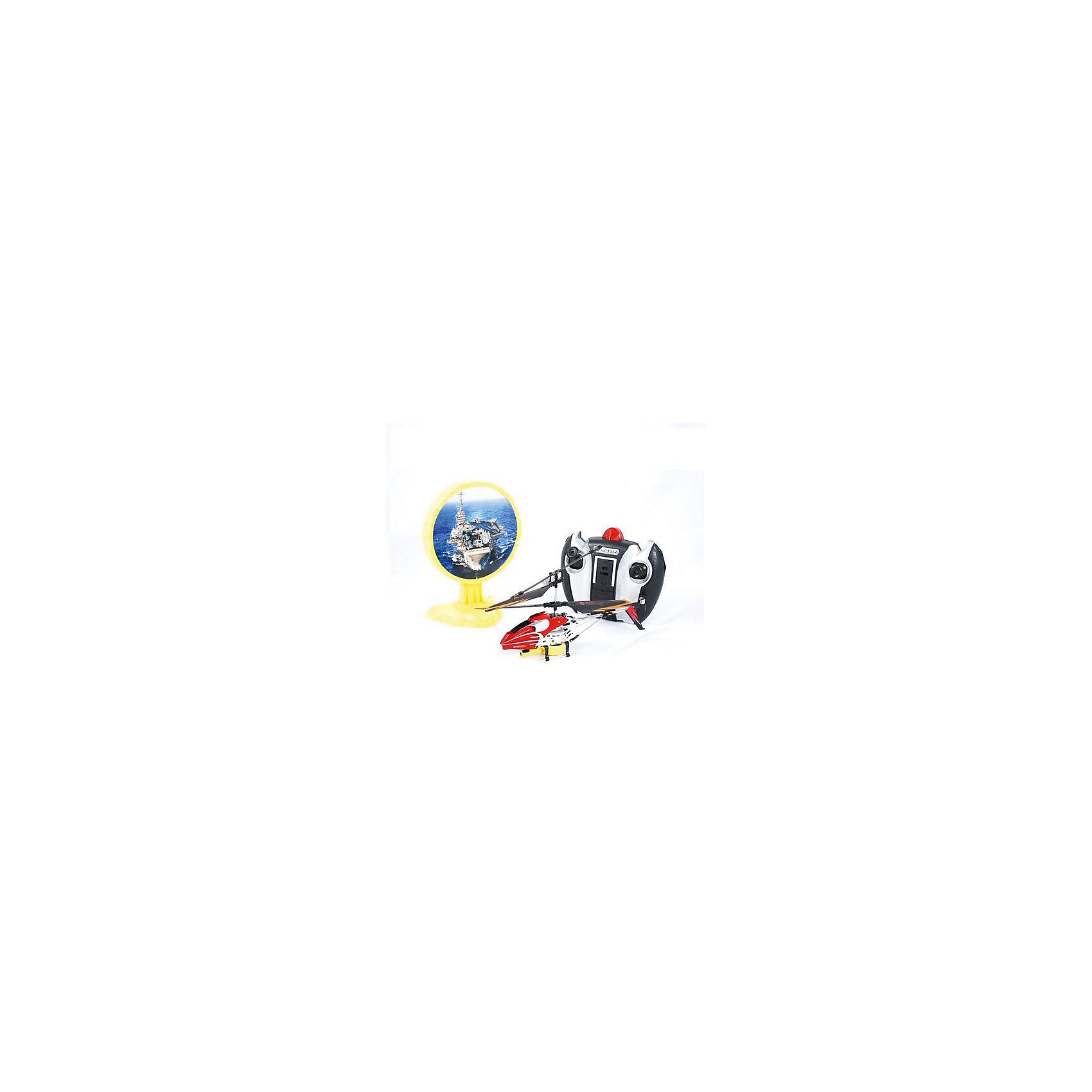Вертолет на р/у с инфракрасной пушкой и мишенью, красный, Властелин небесРадиоуправляемый транспорт<br>Вертолет на р/у с инфракрасной пушкой и мишенью, красный, Властелин небес<br><br>Характеристики:<br><br>• сбейте авианосец с помощью пульта управления<br>• мишень воспроизводит реалистичные звуки<br>• при попадании в цель загораются огни<br>• вертолет летает в любую сторону и поворачивается<br>• встроенный гироскоп<br>• в комплекте: вертолет, пульт управления, запасной хвостовой винт, 2 лопасти<br>• время полета: 6-9 минут<br>• радиус действия: до 20 метров<br>• размер вертолета: 21х4х10 см<br>• диаметр основного винта: 19 см<br>• диаметр хвостового винта: 3 см<br>• вес: 770 грамм<br>• материал: металл, пластик<br>• батарейки: АА / LR6/1,5V (не входят в комплект)<br>• цвет: красный<br><br>Вертолет Лазерная атака поможет весело провести время! Цель игры - сбить вражескую мишень стрельбой. Нажмите на красную кнопку пульта - начнется стрельба. При попадании в центр мишени появляются яркие огоньки. Сама мишень издает реалистичные звуки, подобно настоящему авианосцу. Вертолет летает во все стороны и разворачивается, а встроенный гироскоп обеспечивает стабильность. Дальность действия - 20 метров, что позволяет играть не только в помещении, но и на улице в безветренную погоду. <br>Для работы необходимы пальчиковые батарейки (в комплект не входят).<br><br>Вертолет на р/у с инфракрасной пушкой и мишенью, красный, Властелин небес вы можете купить в нашем интернет-магазине.<br><br>Ширина мм: 150<br>Глубина мм: 295<br>Высота мм: 160<br>Вес г: 770<br>Возраст от месяцев: 108<br>Возраст до месяцев: 2147483647<br>Пол: Мужской<br>Возраст: Детский<br>SKU: 5397089
