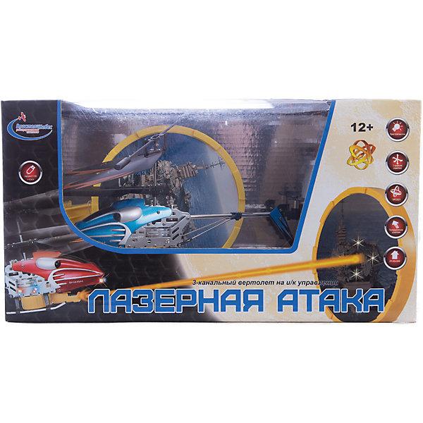 Вертолет на р/у с инфракрасной пушкой и мишенью, синий, Властелин небесРадиоуправляемые вертолёты<br>Вертолет на р/у с инфракрасной пушкой и мишенью, синий, Властелин небес<br><br>Характеристики:<br><br>• сбейте авианосец с помощью пульта управления<br>• мишень воспроизводит реалистичные звуки<br>• при попадании в цель загораются огни<br>• вертолет летает в любую сторону и поворачивается<br>• встроенный гироскоп<br>• в комплекте: вертолет, пульт управления, запасной хвостовой винт, 2 лопасти<br>• время полета: 6-9 минут<br>• радиус действия: до 20 метров<br>• размер вертолета: 21х4х10 см<br>• диаметр основного винта: 19 см<br>• диаметр хвостового винта: 3 см<br>• вес: 770 грамм<br>• материал: металл, пластик<br>• батарейки: АА / LR6/1,5V (не входят в комплект)<br>• цвет: синий<br><br>Вертолет Лазерная атака поможет весело провести время! Цель игры - сбить вражескую мишень стрельбой. Нажмите на красную кнопку пульта - начнется стрельба. При попадании в центр мишени появляются яркие огоньки. Сама мишень издает реалистичные звуки, подобно настоящему авианосцу. Вертолет летает во все стороны и разворачивается, а встроенный гироскоп обеспечивает стабильность. Дальность действия - 20 метров, что позволяет играть не только в помещении, но и на улице в безветренную погоду. <br>Для работы необходимы пальчиковые батарейки (в комплект не входят).<br><br>Вертолет на р/у с инфракрасной пушкой и мишенью, синий, Властелин небес вы можете купить в нашем интернет-магазине.<br><br>Ширина мм: 150<br>Глубина мм: 295<br>Высота мм: 160<br>Вес г: 770<br>Возраст от месяцев: 108<br>Возраст до месяцев: 2147483647<br>Пол: Мужской<br>Возраст: Детский<br>SKU: 5397090