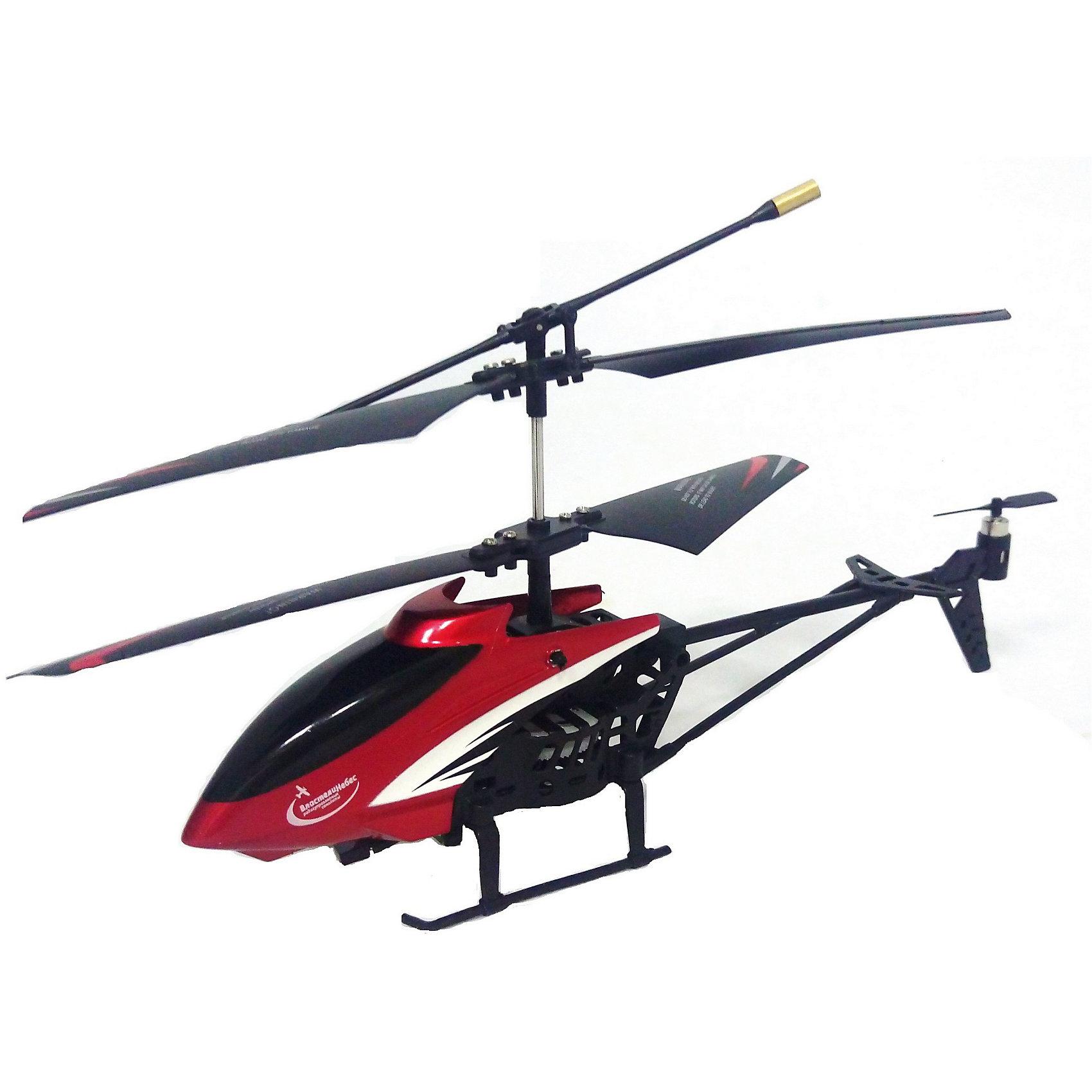 Радиоуправляемый вертолет Стрекоза на и/у, Властелин небесРадиоуправляемый транспорт<br>Радиоуправляемый вертолет Стрекоза на и/у, Властелин небес<br><br>Характеристики:<br><br>• летает вверх, вниз, влево и вправо<br>• зависает в воздухе и разворачивается<br>• небольшой и маневренный<br>• светящиеся сигнальные огни для полетов в темноте<br>• размер вертолета: 22х21х13 см<br>• в комплекте: вертолет, пульт управления, USB кабель, отвертка, 2 запасные лопасти, запасной хвостовой винт, инструкция<br>• вес: 275 грамм<br>• размер упаковки: 40х15х8 см<br>• питание: 3.7V аккумулятор Li-poli<br>• батарейки: АА - 6 шт. (не входят в комплект)<br>• материал: металл, полимерные материалы, пластик<br>• дальность действия: 20 метров<br>• время игры: 6-9 минут<br><br>Яркий и маневренный вертолет порадует любителей радиоуправляемых игрушек. Стрекоза быстро выполняет команды и умеет летать вверх, вниз, влево и вправо. Кроме того, вертолет может разворачиваться, а благодаря встроенному гироскопу, зависать в воздухе. Время работы при полной зарядке - 8 минут. Большая дальность действия пульта позволяет играть не только в помещении, но и на улице в безветренную погоду. <br>Для работы необходимы 6 батареек АА (не входят в комплект).<br><br>Радиоуправляемый вертолет Стрекоза на и/у, Властелин небес вы можете купить в нашем интернет-магазине.<br><br>Ширина мм: 75<br>Глубина мм: 390<br>Высота мм: 150<br>Вес г: 390<br>Возраст от месяцев: 144<br>Возраст до месяцев: 2147483647<br>Пол: Мужской<br>Возраст: Детский<br>SKU: 5397101