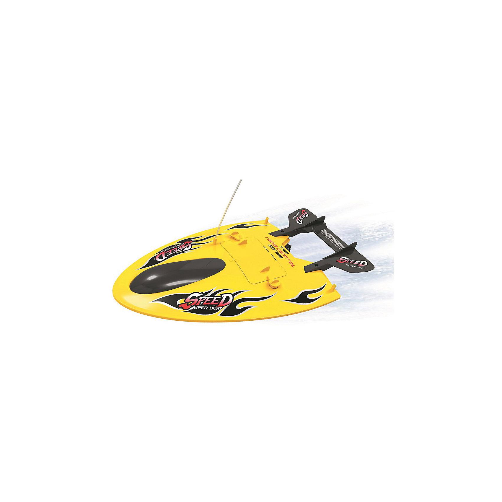 Гоночный ныряющий катер на р/у Чемпионат 1:14, желтый, Властелин небесГоночный ныряющий катер на р/у Чемпионат 1:14, желтый, Властелин небес<br><br>Характеристики:<br><br>• дальность действия до 25 метров<br>• не пропускает воду внутрь<br>• ездит влево, вправо, вперёд и назад<br>• частота: 27 МГц<br>• размер катера: 43х25 см<br>• размер упаковки: 47х29х14 см<br>• вес: 1001 грамм<br>• в комплекте: катер, пульт управления, аккумулятор, зарядное устройство<br>• батарейки: АА - 2 шт. (не входят в комплект)<br>• цвет: желтый<br><br>Катер Чемпионат - настоящий подарок для любителей гонок на воде! Игрушка управляется с помощью пульта и отлично выполняет команды. Катер может ездить вперед, назад, влево и вправо. Большая дальность действия (до 25 метров) позволит вам устраивать самые долгие заплывы. Корпус изготовлен из прочного пластика. Он не пропускает воду внутрь во избежание повреждений. <br>Для работы необходимы две батарейки АА (не входят в комплект)<br><br>Гоночный ныряющий катер на р/у Чемпионат 1:14, желтый, Властелин небес можно купить в нашем интернет-магазине.<br><br>Ширина мм: 140<br>Глубина мм: 470<br>Высота мм: 290<br>Вес г: 2000<br>Возраст от месяцев: 96<br>Возраст до месяцев: 2147483647<br>Пол: Мужской<br>Возраст: Детский<br>SKU: 5397110