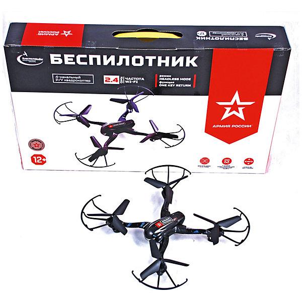 Квадрокоптер р/у Беспилотник, Властелин небесКвадрокоптеры<br>Квадрокоптер р/у Беспилотник, Властелин небес<br><br>Характеристики:<br><br>• летает в любом направлении<br>• поворачивается вокруг своей оси и зависает в воздухе<br>• яркие огни<br>• корпус из прочного пластика<br>• дальность управления: до 100 метров<br>• время игры: 8 минут<br>• время зарядки: 50 минут<br>• размер игрушки: 22х22х4 см<br>• материал: металл, пластик<br>• частота р/у: 2,4 МГц<br>• размер упаковки: 45х26х8 см<br>• вес: 515 грамм<br>• батарейки: АА - 4 шт. (не входят в комплект)<br>• в комплекте: квадрокоптер, пульт управления, 2 запасных пропеллера, 2 ножки, кабель USB, аккумулятор, отвертка, инструкция<br><br>Квадрокоптер Беспилотник подарит вам возможность насладиться красивым полетом в любое время суток. Игрушка летает в любом направлении, а встроенный гироскоп обеспечивает стабильность полета и зависание в воздухе. Яркие огни сделает полет еще привлекательнее в сумеречное время. Дальность полета зависит от погодных условий и составляет до 100 метров. Квадрокоптер оснащен функцией автоориентации и функцией автоматического возврата к точке взлета. Время игры при полной зарядке составляет 8 минут.<br>Необходимы четыре батарейки АА (не входят в комплект).<br><br>Квадрокоптер р/у Беспилотник, Властелин небес можно купить в нашем интернет-магазине.<br>Ширина мм: 70; Глубина мм: 435; Высота мм: 255; Вес г: 670; Возраст от месяцев: 144; Возраст до месяцев: 2147483647; Пол: Мужской; Возраст: Детский; SKU: 5397113;