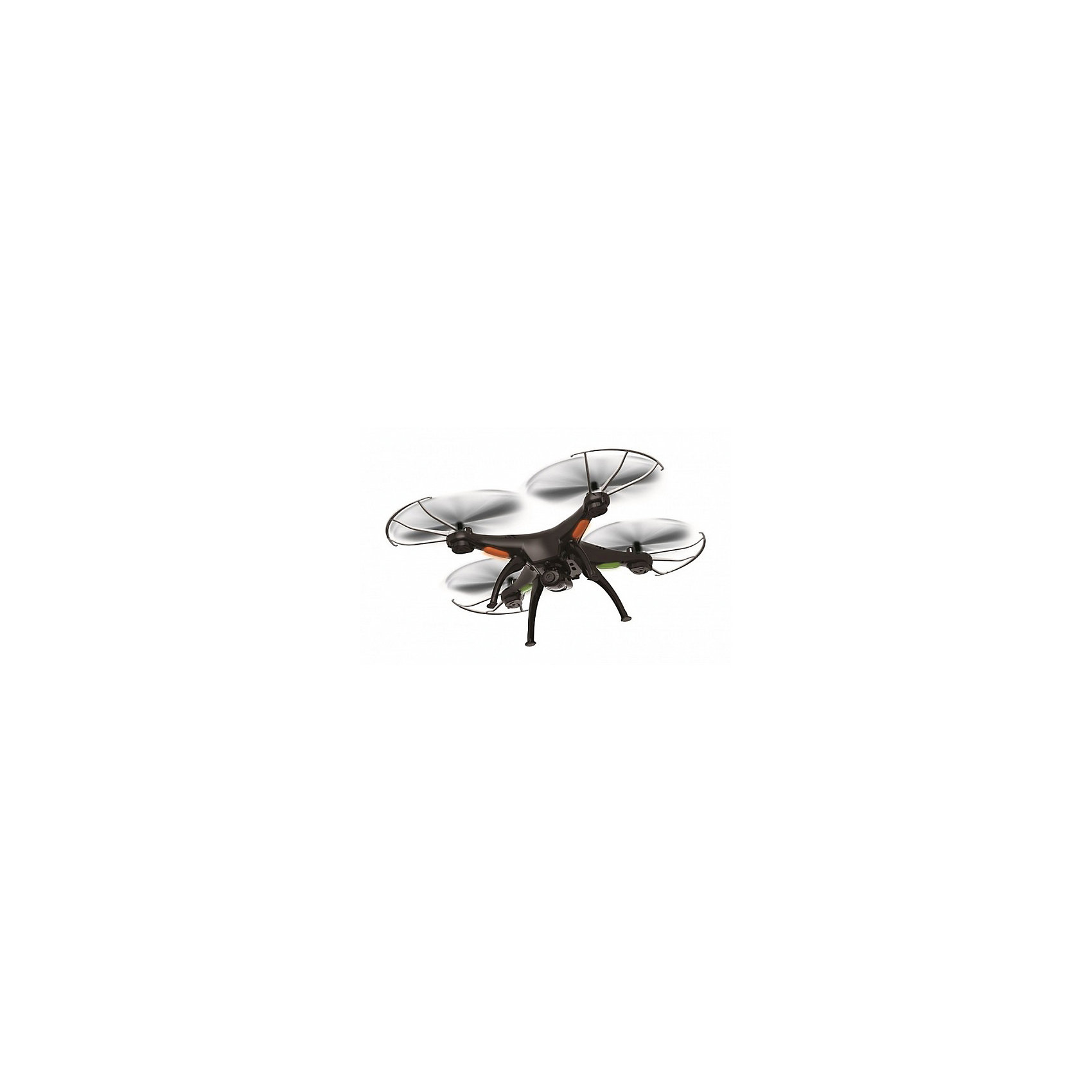 Квадрокоптер р/у Шпион, черный, Властелин небесКвадрокоптер р/у Шпион, черный, Властелин небес<br><br>Характеристики:<br><br>• встроенная камера 2 Мп<br>• функция фото- и видеосъемки, возможность трансляции на смартфон<br>• режим автоориентации<br>• время игры: до 10 минут<br>• время зарядки: около 50 минут<br>• дальность действия: 100 метров<br>• частота р/у: 2.4 ГГц<br>• аккумулятор: 3.7V, Li-poly<br>• размер игрушки: 31х31х11 см<br>• материал: пластик, металл<br>• в комплекте: квадрокоптер, пульт управления, крепление для смартфона, USB кабель, аккумулятор, запасные винты, отвертка, инструкция<br>• батарейки: АА - 4 шт. (не входят в комплект)<br>• цвет: черный<br><br>Квадрокоптер Шпион - действительно фантастическая игрушка для детей и взрослых. Он оснащен встроенной камерой 2 Мп, которая позволяет делать фото и видео в процессе полета. Кроме того, вы можете воспользоваться надежным креплением для смартфона и наблюдать за красотой полета в реальном времени! Высокая дальность действия позволит вам сделать красивые фото, не сходя с места. Квадрокоптер оснащен функцией HEADLESS MODE, при включении которой игрушка автоматически ориентируется в пространстве и распознает, какая сторона должна быть задом, а какая передом. В комплект входят запасные детали на случай поломки. Время игры при полной зарядке - до 10 минут.<br>Необходимы четыре батарейки АА (не входят в комплект).<br><br>Квадрокоптер р/у Шпион, черный, Властелин небес можно купить в нашем интернет-магазине.<br><br>Ширина мм: 95<br>Глубина мм: 410<br>Высота мм: 340<br>Вес г: 1130<br>Возраст от месяцев: 120<br>Возраст до месяцев: 2147483647<br>Пол: Мужской<br>Возраст: Детский<br>SKU: 5397119