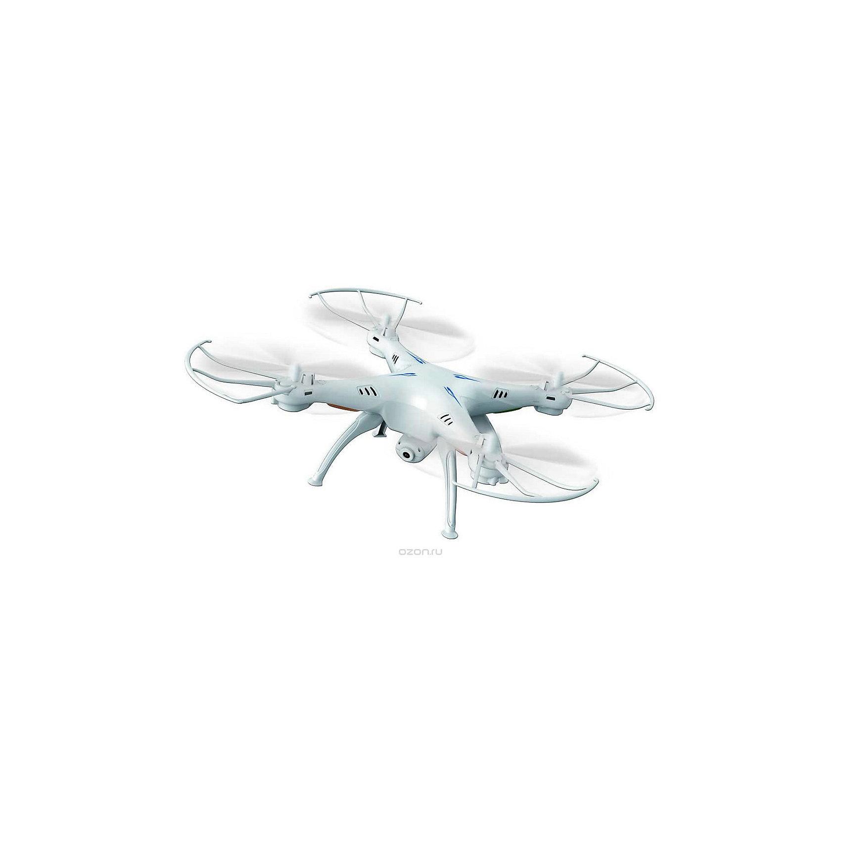 Квадрокоптер р/у Шпион, белый, Властелин небесКвадрокоптер р/у Шпион, белый, Властелин небес<br><br>Характеристики:<br><br>• встроенная камера 2 Мп<br>• функция фото- и видеосъемки, возможность трансляции на смартфон<br>• режим автоориентации<br>• время игры: до 10 минут<br>• время зарядки: около 50 минут<br>• дальность действия: 100 метров<br>• частота р/у: 2.4 ГГц<br>• аккумулятор: 3.7V, Li-poly<br>• размер игрушки: 31х31х11 см<br>• материал: пластик, металл<br>• в комплекте: квадрокоптер, пульт управления, крепление для смартфона, USB кабель, аккумулятор, запасные винты, отвертка, инструкция<br>• батарейки: АА - 4 шт. (не входят в комплект)<br>• цвет: белый<br><br>Квадрокоптер Шпион - действительно фантастическая игрушка для детей и взрослых. Он оснащен встроенной камерой 2 Мп, которая позволяет делать фото и видео в процессе полета. Кроме того, вы можете воспользоваться надежным креплением для смартфона и наблюдать за красотой полета в реальном времени! Высокая дальность действия позволит вам сделать красивые фото, не сходя с места. Квадрокоптер оснащен функцией HEADLESS MODE, при включении которой игрушка автоматически ориентируется в пространстве и распознает, какая сторона должна быть задом, а какая передом. В комплект входят запасные детали на случай поломки. Время игры при полной зарядке - до 10 минут.<br>Необходимы четыре батарейки АА (не входят в комплект).<br><br>Квадрокоптер р/у Шпион, белый, Властелин небес можно купить в нашем интернет-магазине.<br><br>Ширина мм: 95<br>Глубина мм: 410<br>Высота мм: 340<br>Вес г: 1130<br>Возраст от месяцев: 120<br>Возраст до месяцев: 2147483647<br>Пол: Мужской<br>Возраст: Детский<br>SKU: 5397120
