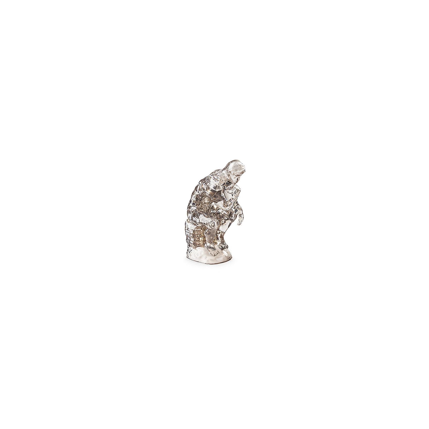 Кристаллический пазл 3D Мыслитель, Crystal PuzzleКристаллический пазл 3D Мыслитель, Crystal Puzzle (Кристал Пазл)<br><br>Характеристики:<br><br>• яркий объемный пазл<br>• размер готовой фигурки: 12.3 см<br>• количество деталей: 43<br>• сложность: средняя<br>• размер упаковки: 5х14х10 см<br>• вес: 235 грамм<br>• материал: пластик<br><br>Новые 3D пазлы - прекрасный подарок для любителей головоломок. С его помощью ребёнок сможет создать красивую фигурку Мыслителя , которая послужит украшением комнаты или станет одной из любимых игрушек. Мыслитель - копия скульптурной работы Огюста Родена. В комплект входят 43 сверкающие детали. Подробная инструкция поможет вам не совершить ошибки во время игры. Игра с пазлами поможет развить внимательность, усидчивость и логическое мышление.<br><br>Кристаллический пазл 3D Мыслитель, Crystal Puzzle (Кристал Пазл) вы можете купить в интернет-магазине.<br><br>Ширина мм: 100<br>Глубина мм: 140<br>Высота мм: 50<br>Вес г: 235<br>Возраст от месяцев: 120<br>Возраст до месяцев: 2147483647<br>Пол: Унисекс<br>Возраст: Детский<br>SKU: 5397222