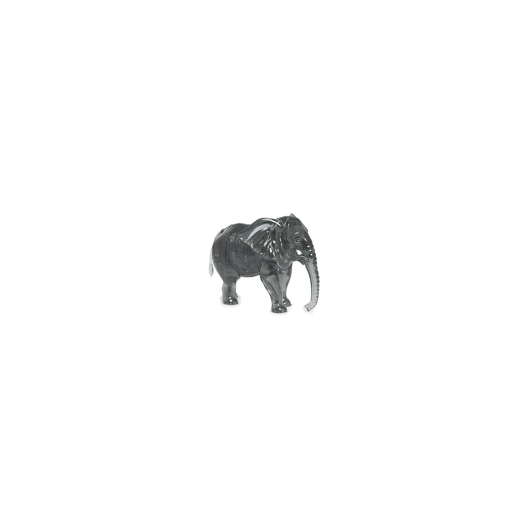 Кристаллический пазл 3D Слон, Crystal PuzzleКристаллический пазл 3D Слон, Crystal Puzzle (Кристал Пазл)<br><br>Характеристики:<br><br>• яркий объемный пазл<br>• размер готовой фигурки: 9 см<br>• количество деталей: 40<br>• высокая сложность<br>• размер упаковки: 5х14х10 см<br>• вес: 163 грамма<br>• материал: пластик<br><br>3D пазл Слон - прекрасный выбор для заядлых любителей головоломок. В комплект входят 40 небольших деталей, которые вам предстоит собрать по номерам, согласно инструкции. Готовая фигурка - сверкающий слон высотой 9 сантиметров. Она отлично украсит интерьер вашего дома или подойдет в качестве подарка. К тому же, собирание пазлов поможет развить логическое, пространственное мышление и внимательность.<br><br>Кристаллический пазл 3D Слон, Crystal Puzzle (Кристал Пазл) вы можете купить в нашем интернет-магазине.<br><br>Ширина мм: 100<br>Глубина мм: 140<br>Высота мм: 50<br>Вес г: 163<br>Возраст от месяцев: 120<br>Возраст до месяцев: 2147483647<br>Пол: Унисекс<br>Возраст: Детский<br>SKU: 5397231