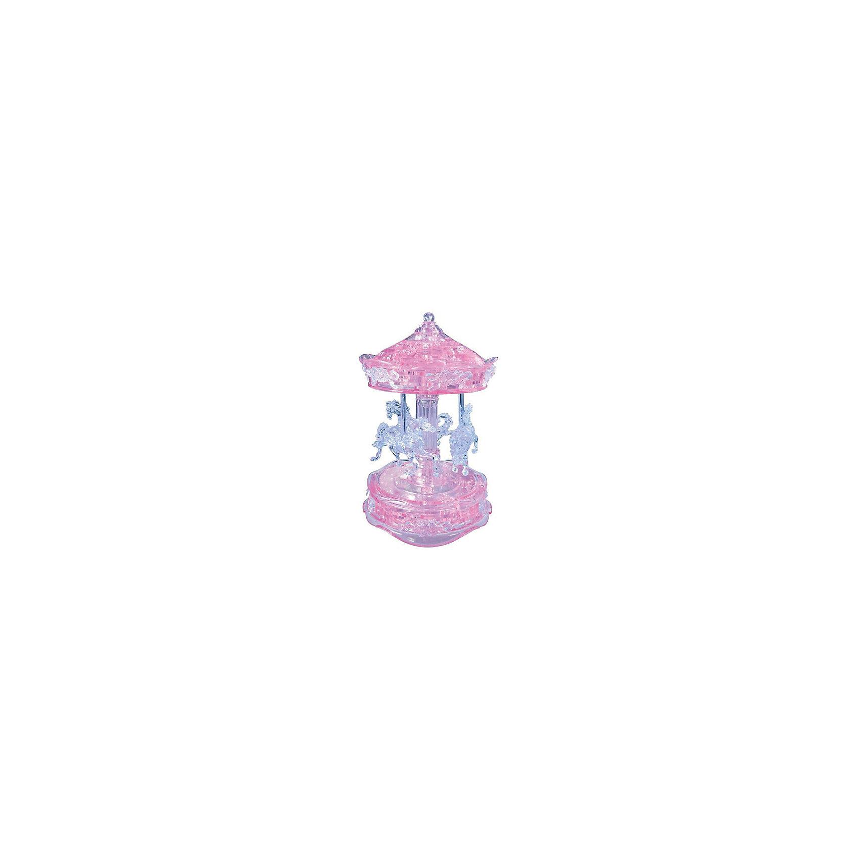 Кристаллический пазл 3D Розовая карусель, Crystal Puzzle3D пазлы<br>Кристаллический пазл 3D Розовая карусель, Crystal Puzzle (Кристал Пазл)<br><br>Характеристики:<br><br>• яркий объемный пазл<br>• размер готовой фигурки: 19 см<br>• количество деталей: 83<br>• высокая сложность<br>• размер упаковки: 6х19х8 см<br>• вес: 468 грамм<br>• материал: пластик<br><br>Кристаллический пазл Розовая карусель выглядит по-настоящему волшебным. И пусть высокая сложность сборки вас не пугает, ведь результат будет удивительным! В комплект входят 83 сверкающие детали из пластика. Все детали пронумерованы, а инструкция поможет вам подробно разобраться в процессе сборки и не допустить ошибки. Готовая карусель в стиле 19 века - прекрасный сувенир, который украсит любую комнату.<br>Процесс собирания пазлов развивает логику, внимательность, пространственное мышление и усидчивость.<br><br>Кристаллический пазл 3D Розовая карусель, Crystal Puzzle (Кристал Пазл) вы можете купить в нашем интернет-магазине.<br><br>Ширина мм: 180<br>Глубина мм: 190<br>Высота мм: 60<br>Вес г: 468<br>Возраст от месяцев: 120<br>Возраст до месяцев: 2147483647<br>Пол: Женский<br>Возраст: Детский<br>SKU: 5397233
