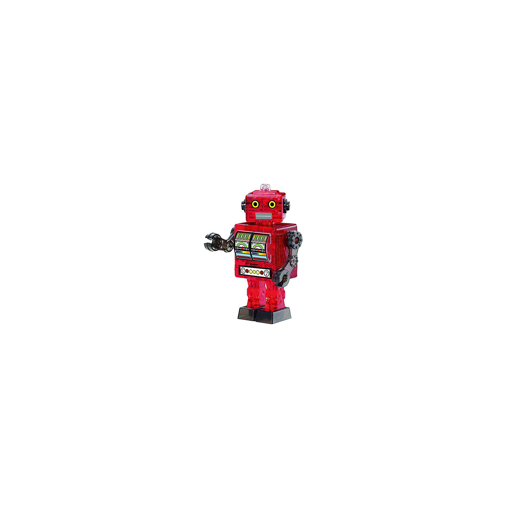 Кристаллический пазл 3D Красный робот, Crystal Puzzle3D пазлы<br>Кристаллический пазл 3D Красный робот, Crystal Puzzle (Кристал Пазл)<br><br>Характеристики:<br><br>• яркий объемный пазл<br>• размер готовой фигурки: 9,5 см<br>• количество деталей: 39<br>• высокая сложность<br>• размер упаковки: 5х14х10 см<br>• вес: 180 грамм<br>• материал: пластик<br><br>Собирание 3D пазлов - непростая, но интересная задача. Поэтапная сборка способствует развитию логики и пространственного мышления. В комплект входят 39 деталей, собрав которые вы получите красного робота в стиле ретро. Процесс сборки достаточно сложный и увлекательный. Однако подробная инструкция и нумерация деталей позволят вам разобраться со всеми тонкостями процесса. Яркий красный робот станет прекрасным подарком для близких!<br><br>Кристаллический пазл 3D Красный робот, Crystal Puzzle (Кристал Пазл) вы может купить в нашем интернет-магазине.<br><br>Ширина мм: 100<br>Глубина мм: 140<br>Высота мм: 50<br>Вес г: 180<br>Возраст от месяцев: 120<br>Возраст до месяцев: 2147483647<br>Пол: Мужской<br>Возраст: Детский<br>SKU: 5397234