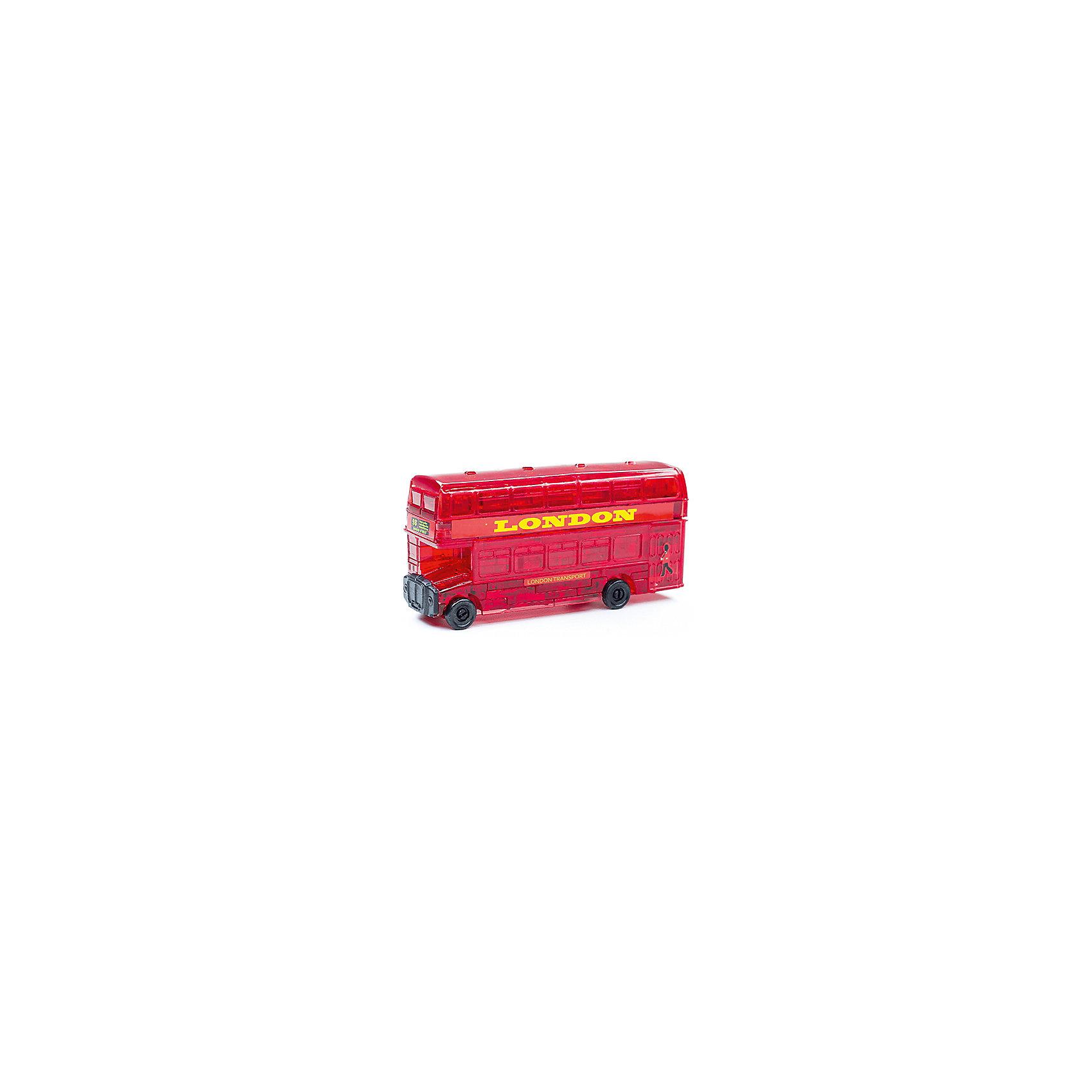 Кристаллический пазл 3D Лондонский автобус, Crystal PuzzleКристаллический пазл 3D Лондонский автобус, Crystal Puzzle (Кристал Пазл)<br><br>Характеристики:<br><br>• яркий объемный пазл<br>• размер готовой фигурки: 8 см<br>• количество деталей: 53<br>• высокая сложность<br>• размер упаковки: 5х14х10 см<br>• вес: 244 грамма<br>• материал: пластик<br><br>3D пазл - настоящая находка для любителей сложных головоломок. В набор Лондонский автобус входят 53 детали, собрав, которые вы сможете насладиться яркой сверкающей фигуркой двухэтажного автобуса. Процесс сборки достаточно сложен, поэтому в комплекте есть подробная инструкция для каждой детали. Кроме того, собирая 3D пазл, вы развиваете логическое и пространственное мышление, моторику рук и внимательность.<br><br>Кристаллический пазл 3D Лондонский автобус, Crystal Puzzle (Кристал Пазл) вы можете купить в нашем интернет-магазине.<br><br>Ширина мм: 100<br>Глубина мм: 140<br>Высота мм: 50<br>Вес г: 244<br>Возраст от месяцев: 120<br>Возраст до месяцев: 2147483647<br>Пол: Мужской<br>Возраст: Детский<br>SKU: 5397238