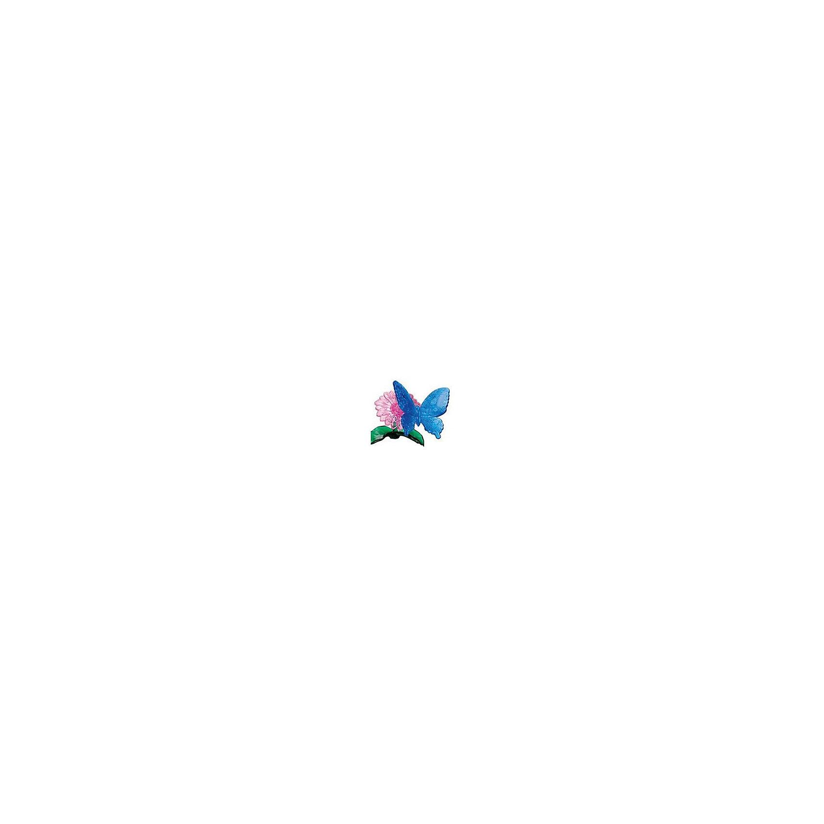 Кристаллический пазл 3D Голубая бабочка, Crystal Puzzle3D пазлы<br>Кристаллический пазл 3D Голубая бабочка, Crystal Puzzle (Кристал Пазл)<br><br>Характеристики:<br><br>• яркий объемный пазл<br>• размер готовой фигурки: 9 см<br>• количество деталей: 38<br>• высокая сложность<br>• размер упаковки: 5х14х10 см<br>• вес: 135 грамм<br>• материал: пластик<br><br>Собирание пазлов способствует развитию моторики, логического и пространственного мышления. А 3D пазлы ещё и порадуют вас своей красотой. Любители сложных головоломок будут рады набору Голубая бабочка. В него входят 38 деталей трех цветов. Собрав их самостоятельно или воспользовавшись инструкцией, вы увидите прекрасную бабочку, сидящую на цветке. Готовую работу можно поставить на стол или полку для украшения комнаты.<br><br>Кристаллический пазл 3D Голубая бабочка, Crystal Puzzle (Кристал Пазл) вы можете купить в нашем интернет-магазине.<br><br>Ширина мм: 100<br>Глубина мм: 140<br>Высота мм: 50<br>Вес г: 135<br>Возраст от месяцев: 120<br>Возраст до месяцев: 2147483647<br>Пол: Женский<br>Возраст: Детский<br>SKU: 5397242