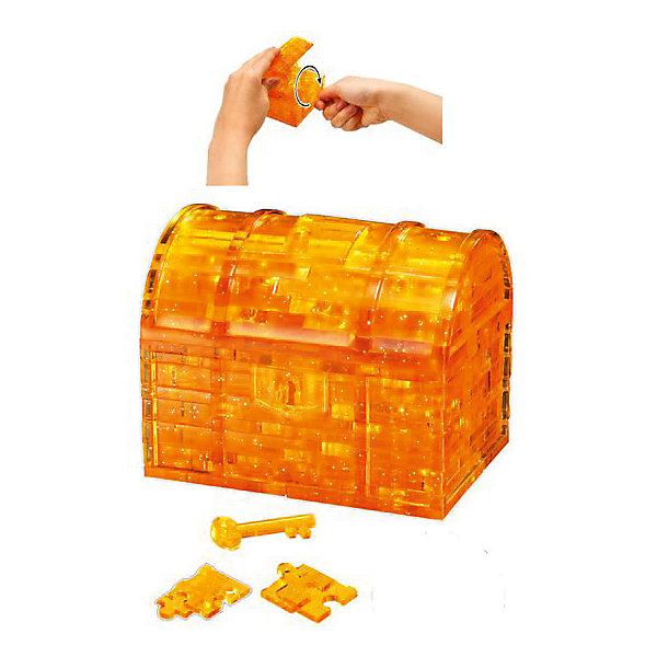 Кристаллический пазл 3D Сундук, Crystal Puzzle3D пазлы<br>Кристаллический пазл 3D Сундук, Crystal Puzzle (Кристал Пазл)<br><br>Характеристики:<br><br>• яркий объемный пазл<br>• размер готовой фигурки: 9 см<br>• количество деталей: 52<br>• высокая сложность<br>• размер упаковки: 5х14х10 см<br>• вес: 281 грамм<br>• материал: пластик<br><br>3D пазл от Crystal Puzzle - настоящая находка для юных искателей сокровищ! В набор входят 52 детали, собрав которые вы сделаете сверкающий сундучок пирата, закрывающий с помощью ключа. Готовая фигурка станет приятным украшением интерьера любой комнаты. Игра поможет развить пространственное мышление, логику, усидчивость и внимательность.<br><br>Кристаллический пазл 3D Сундук, Crystal Puzzle (Кристал Пазл) вы можете купить в нашем интернет-магазине.<br>Ширина мм: 100; Глубина мм: 140; Высота мм: 50; Вес г: 281; Возраст от месяцев: 120; Возраст до месяцев: 2147483647; Пол: Унисекс; Возраст: Детский; SKU: 5397248;