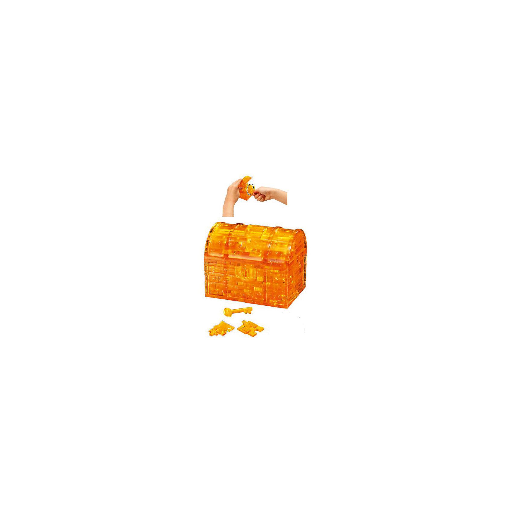 Кристаллический пазл 3D Сундук, Crystal Puzzle3D пазлы<br>Кристаллический пазл 3D Сундук, Crystal Puzzle (Кристал Пазл)<br><br>Характеристики:<br><br>• яркий объемный пазл<br>• размер готовой фигурки: 9 см<br>• количество деталей: 52<br>• высокая сложность<br>• размер упаковки: 5х14х10 см<br>• вес: 281 грамм<br>• материал: пластик<br><br>3D пазл от Crystal Puzzle - настоящая находка для юных искателей сокровищ! В набор входят 52 детали, собрав которые вы сделаете сверкающий сундучок пирата, закрывающий с помощью ключа. Готовая фигурка станет приятным украшением интерьера любой комнаты. Игра поможет развить пространственное мышление, логику, усидчивость и внимательность.<br><br>Кристаллический пазл 3D Сундук, Crystal Puzzle (Кристал Пазл) вы можете купить в нашем интернет-магазине.<br><br>Ширина мм: 100<br>Глубина мм: 140<br>Высота мм: 50<br>Вес г: 281<br>Возраст от месяцев: 120<br>Возраст до месяцев: 2147483647<br>Пол: Унисекс<br>Возраст: Детский<br>SKU: 5397248