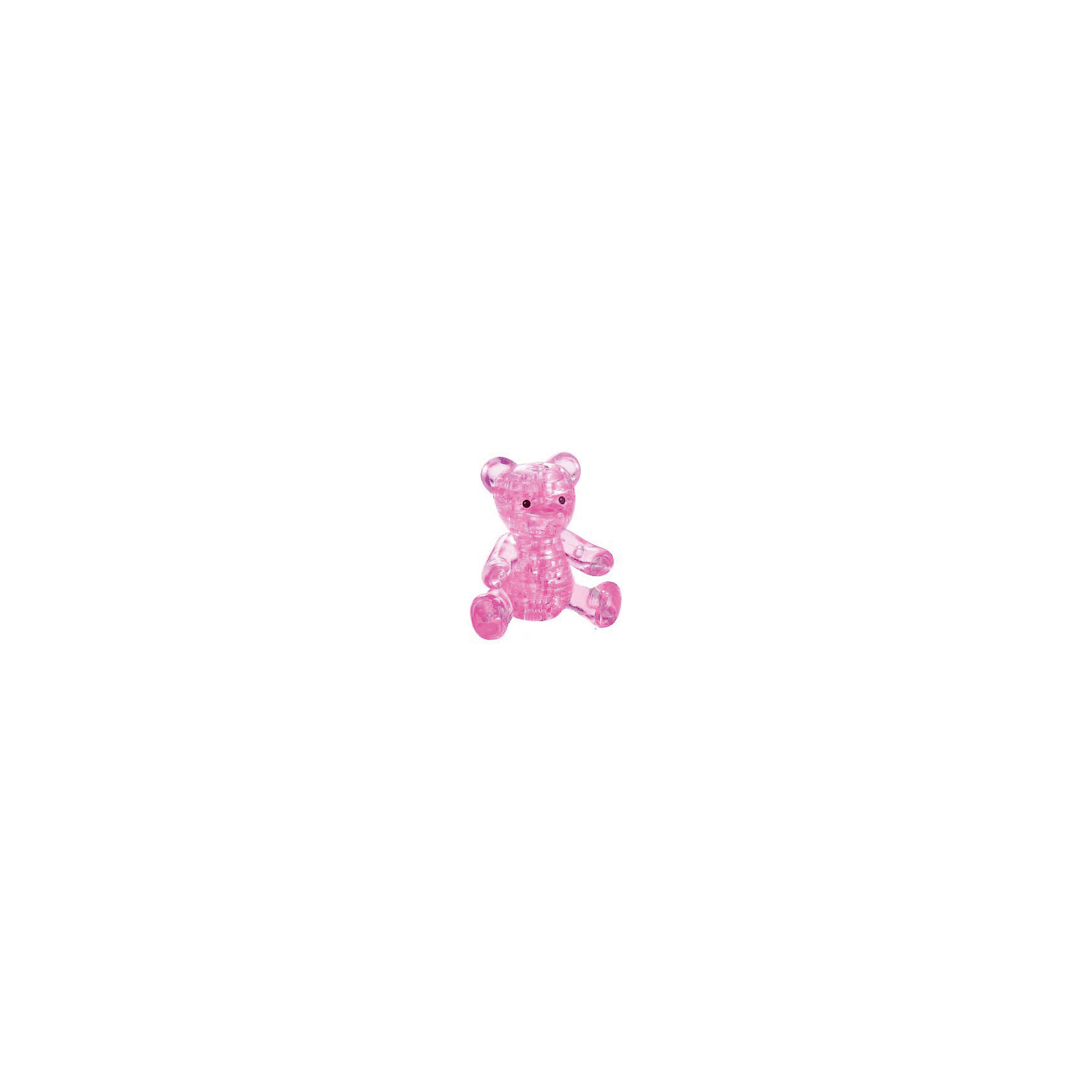 Кристаллический пазл 3D Розовый мишка, Crystal Puzzle3D пазлы<br>Кристаллический пазл 3D Розовый мишка, Crystal Puzzle (Кристал Пазл)<br><br>Характеристики:<br><br>• яркий объемный пазл<br>• размер готовой фигурки: 8 см<br>• количество деталей: 41<br>• высокая сложность<br>• размер упаковки: 5х14х10 см<br>• вес: 167 грамм<br>• материал: пластик<br><br>Кристаллический пазл Мишка отлично подойдет для любителей сложных и увлекательных головоломок. В комплект входит 41 деталь, собрав которые вы сможете увидеть прекрасного медвежонка. Подробная инструкция и нумерация деталей поможет вам справиться с этой задачей. Фигурку можно поставить на стол или полку для украшения комнаты. Собирание пазлов способствует развитию пространственного мышления, логики и усидчивости.<br><br>Кристаллический пазл 3D Розовый мишка, Crystal Puzzle (Кристал Пазл) можно купить в нашем интернет-магазине.<br><br>Ширина мм: 100<br>Глубина мм: 140<br>Высота мм: 50<br>Вес г: 167<br>Возраст от месяцев: 120<br>Возраст до месяцев: 2147483647<br>Пол: Женский<br>Возраст: Детский<br>SKU: 5397251