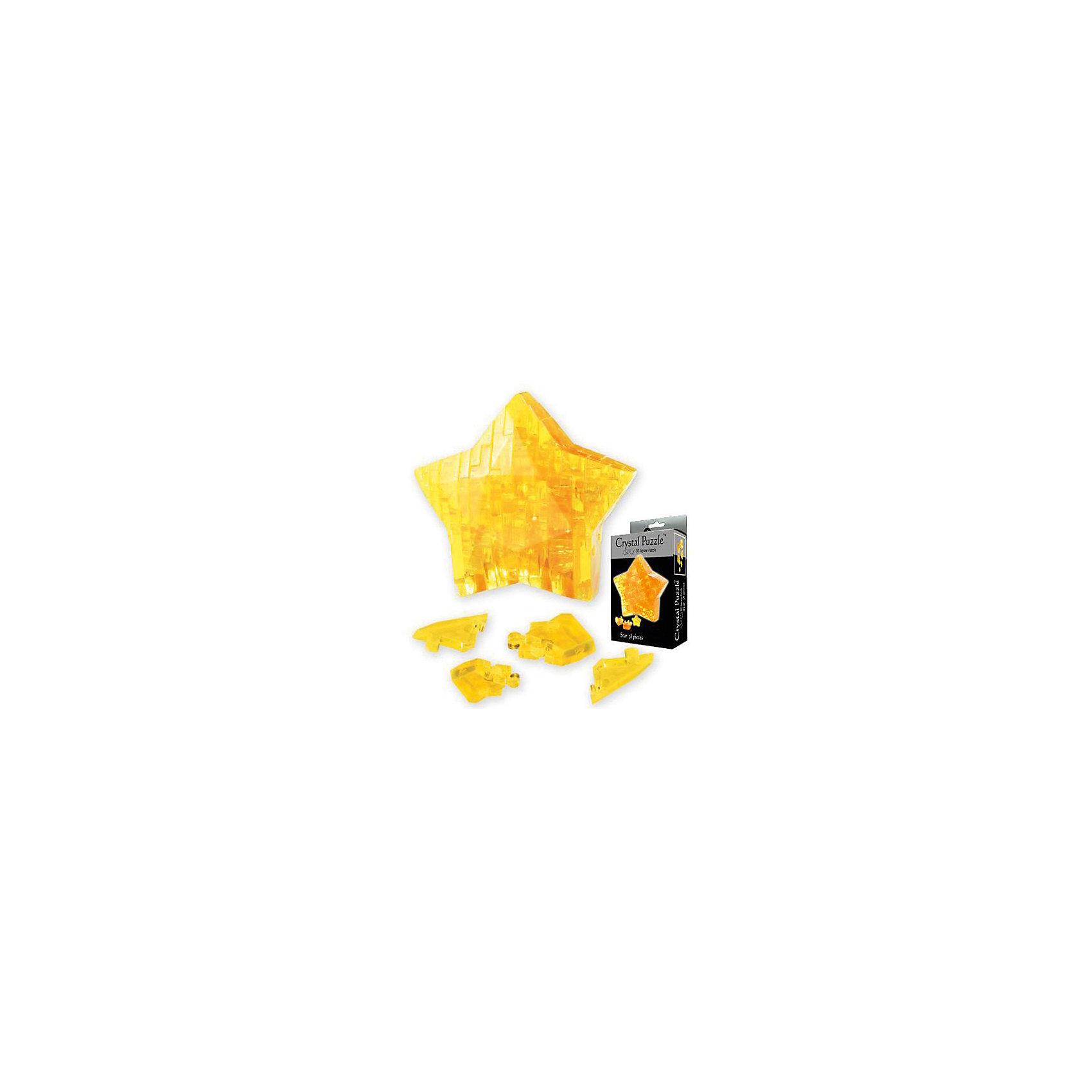 Кристаллический пазл 3D Звезда, Crystal Puzzle3D пазлы<br>Кристаллический пазл 3D Звезда, Crystal Puzzle (Кристал Пазл)<br><br>Характеристики:<br><br>• яркий объемный пазл<br>• размер готовой фигурки: 8 см<br>• количество деталей: 38<br>• высокая сложность<br>• размер упаковки: 5х14х10 см<br>• вес: 154 грамма<br>• материал: пластик<br><br>Всего лишь из 38 деталей можно собрать прекрасную звезду, которая ещё долго будет радовать вас своей красотой и сиянием. Однако процесс сборки не так прост, и вам может потребоваться помощь инструкции. Разложите детали по номерам и соедините их в правильной последовательности - прекрасная звезда готова! Вы можете использовать её в качестве сувенира или подарка. Кроме того, процесс сборки способствует развитию логического мышления, усидчивости и координации движений.<br><br>Кристаллический пазл 3D Звезда, Crystal Puzzle (Кристал Пазл) можно купить в нашем интернет-магазине.<br><br>Ширина мм: 100<br>Глубина мм: 140<br>Высота мм: 50<br>Вес г: 154<br>Возраст от месяцев: 120<br>Возраст до месяцев: 2147483647<br>Пол: Унисекс<br>Возраст: Детский<br>SKU: 5397254