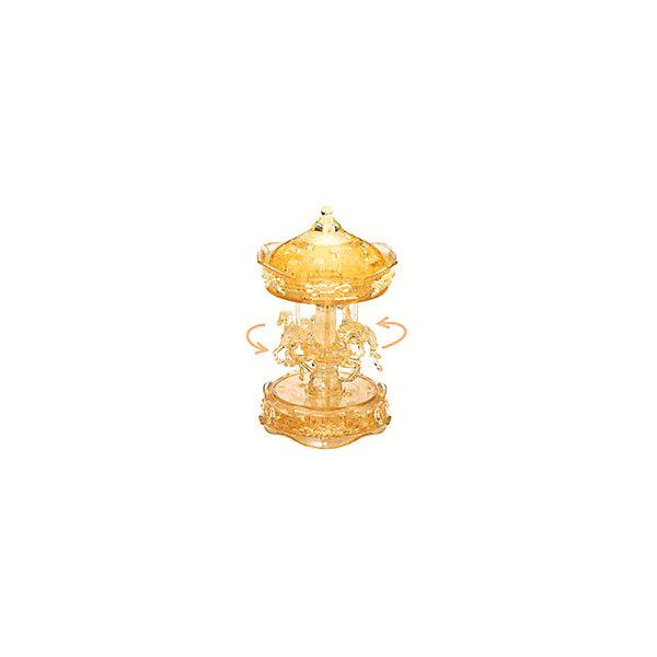 Кристаллический пазл 3D Золотая карусель, Crystal Puzzle3D пазлы<br>Кристаллический пазл 3D Золотая карусель, Crystal Puzzle (Кристал Пазл)<br><br>Характеристики:<br><br>• яркий объемный пазл<br>• размер готовой фигурки: 19 см<br>• количество деталей: 83<br>• высокая сложность<br>• размер упаковки: 6х19х8 см<br>• вес: 468 грамм<br>• материал: пластик<br><br>Кристаллический пазл Золотая карусель выглядит по-настоящему волшебным. И пусть высокая сложность сборки вас не пугает, ведь результат будет удивительным! В комплект входят 83 сверкающие детали из пластика. Все детали пронумерованы, а инструкция поможет вам подробно разобраться в процессе сборки и не допустить ошибки. Готовая карусель в стиле 19 века - прекрасный сувенир, который украсит любую комнату.<br>Процесс собирания пазлов развивает логику, внимательность, пространственное мышление и усидчивость.<br><br>Кристаллический пазл 3D Золотая карусель, Crystal Puzzle (Кристал Пазл) вы можете купить в нашем интернет-магазине.<br>Ширина мм: 180; Глубина мм: 190; Высота мм: 60; Вес г: 467; Возраст от месяцев: 120; Возраст до месяцев: 2147483647; Пол: Женский; Возраст: Детский; SKU: 5397259;
