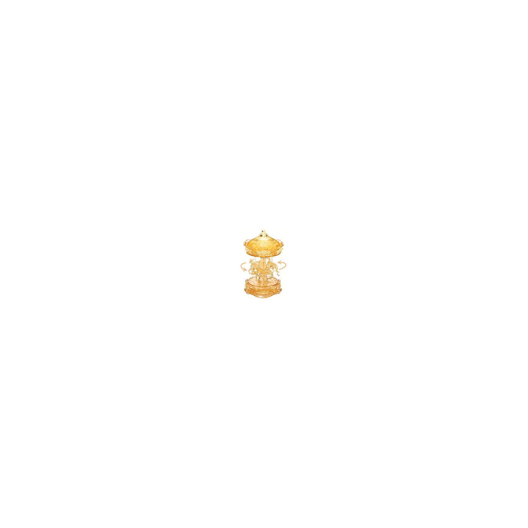Кристаллический пазл 3D Золотая карусель, Crystal PuzzleКристаллический пазл 3D Золотая карусель, Crystal Puzzle (Кристал Пазл)<br><br>Характеристики:<br><br>• яркий объемный пазл<br>• размер готовой фигурки: 19 см<br>• количество деталей: 83<br>• высокая сложность<br>• размер упаковки: 6х19х8 см<br>• вес: 468 грамм<br>• материал: пластик<br><br>Кристаллический пазл Золотая карусель выглядит по-настоящему волшебным. И пусть высокая сложность сборки вас не пугает, ведь результат будет удивительным! В комплект входят 83 сверкающие детали из пластика. Все детали пронумерованы, а инструкция поможет вам подробно разобраться в процессе сборки и не допустить ошибки. Готовая карусель в стиле 19 века - прекрасный сувенир, который украсит любую комнату.<br>Процесс собирания пазлов развивает логику, внимательность, пространственное мышление и усидчивость.<br><br>Кристаллический пазл 3D Золотая карусель, Crystal Puzzle (Кристал Пазл) вы можете купить в нашем интернет-магазине.<br><br>Ширина мм: 180<br>Глубина мм: 190<br>Высота мм: 60<br>Вес г: 467<br>Возраст от месяцев: 120<br>Возраст до месяцев: 2147483647<br>Пол: Женский<br>Возраст: Детский<br>SKU: 5397259