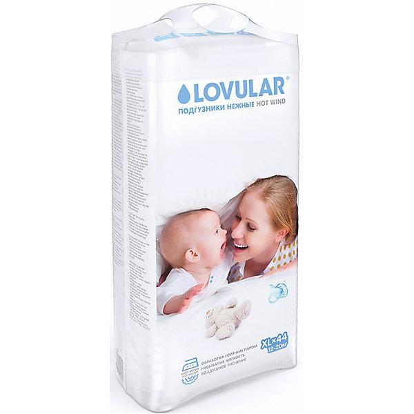 Подгузники детские HOT WIND 12-20 кг., 44 шт., размер XL,, LOVULARПодгузники классические<br>Подгузники детские HOT WIND 12-20 кг., 44 шт., размер XL,, LOVULAR<br><br>Характеристики:<br><br>- количество подгузников в упаковке: 44 шт.<br>- размер: ХL (очень большой)<br>- особенности: невероятная мягкость, удобные застежки, широкие резиночки<br>- вес ребёнка: от 12 до 20 кг.<br>- состав: распущенная целлюлоза, влагопоглащающий материал, нетканные материалы<br>- для детей в возрасте: от 1 до 2,5 лет <br>- страна производитель: Китай<br><br>Детские подгузники серии HOT WIND (Хот Винд) от английской компании Lovular (Ловулар) созданы специально для нежной кожи малышей. Обработанная по технологии использования горячего пара внутрення поверхность подгузника очень мягкая и не провоцирует раздражения или аллергию. На краях подгузника расположены широкие мягкие резиночки, благодаря им снижается возможность протекания и подгузники отлично подходят активным деткам. Внутренний слой подгузника отлично впитывает влагу, оставляя сам подгузник сухим, тонким и удобным в использовании. <br><br>Благодаря специальной технологии впитывание происходит за 45 секунд. Необычная выкройка и натуральные компоненты подгузника безопасны для малышей и обеспечивают максимальный комфорт. Застежки можно использовать несколько раз. На подгузнике изображены цветные шарики и кружочки, есть индикатор заполненности. Удобная упаковка с ручкой позволяет брать с собой всю пачку подгузников в поездку. Ощутите бережную заботу с подгузниками английского качества Lovular (Ловулар)!<br><br>Подгузники детские HOT WIND 12-20 кг., 44 шт., размер XL,, LOVULAR можно купить в нашем интернет-магазине<br><br>Ширина мм: 440<br>Глубина мм: 260<br>Высота мм: 520<br>Вес г: 1750<br>Возраст от месяцев: 12<br>Возраст до месяцев: 36<br>Пол: Унисекс<br>Возраст: Детский<br>SKU: 5397290