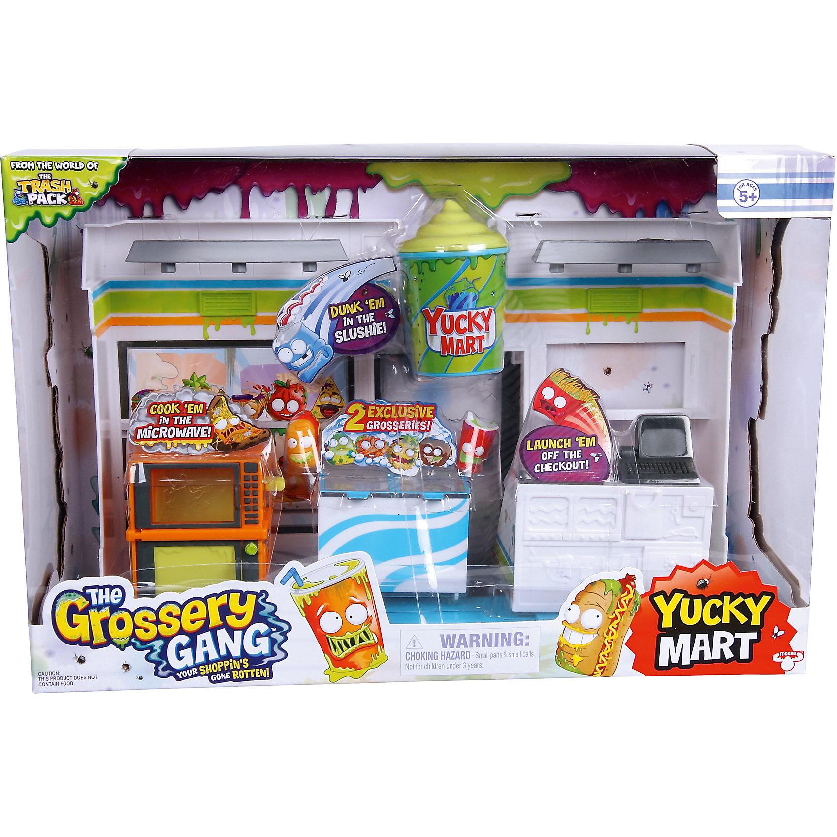 Набор Супермаркет с 2 фигурками, The Grossery GangДетские магазины и аксесссуары<br>Набор Супермаркет с 2 фигурками, Moose (Мус)<br><br>Характеристики:<br><br>• микроволновка и холодильник имеют открывающиеся дверцы<br>• изображение фигурок на прилавке<br>• 2 фигурки в комплекте<br>• материал: пластик<br>• размер упаковки: 34,5х23х12 см<br>• вес: 617 грамм<br>• в комплекте: 2 фигурки, супермаркет, буклет<br><br>Серия The Grossery Gang посвящена продуктам, которые оставили на полках в супермаркете. Конечно же, они испортились и стали очень злыми и вредными. Супермаркет Moose - то самое место, с которого начались приключения маленьких хулиганов. В комплект входят прилавки, микроволновка и холодильник. Их дверцы открываются для большего разнообразия игр. В комплект также входят 2 фигурки The Grossery Gang и буклет со всеми персонажами. Придумайте интересные истории про маленьких продуктовых хулиганов!<br><br>Набор Супермаркет с 2 фигурками, Moose (Мус) вы можете купить в нашем интернет-магазине.<br><br>Ширина мм: 120<br>Глубина мм: 230<br>Высота мм: 345<br>Вес г: 617<br>Возраст от месяцев: 60<br>Возраст до месяцев: 2147483647<br>Пол: Женский<br>Возраст: Детский<br>SKU: 5397301