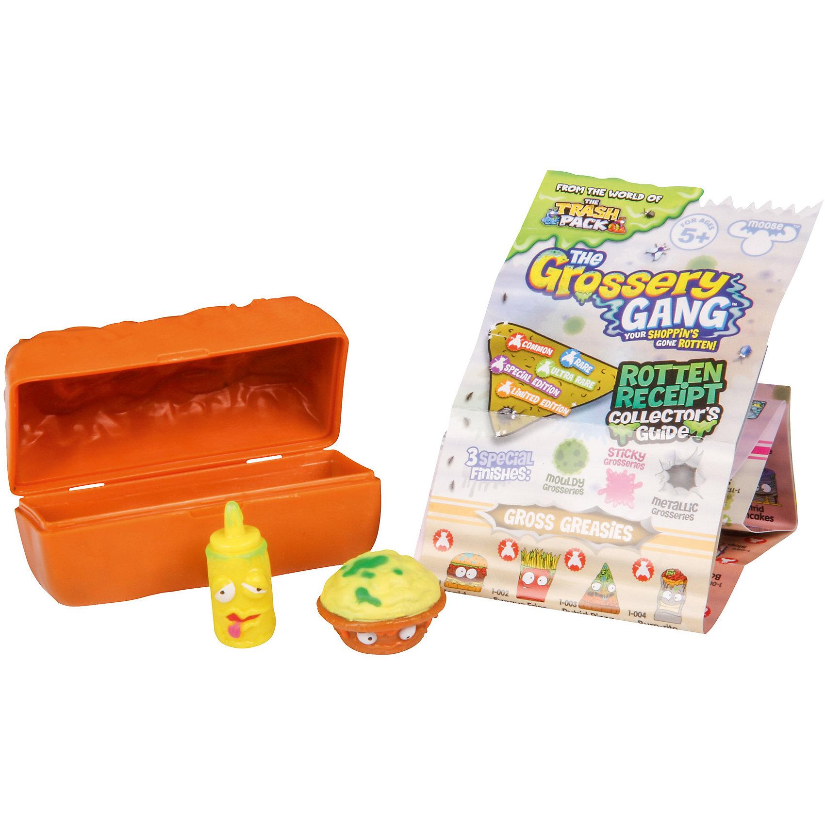Фигурки Шоколадного батончик, 2 шт., The Grossery GangИгрушечные продукты питания<br>Фигурки Шоколадный батончик, 2 шт., Moose (Мус)<br><br>Характеристики:<br><br>• фигурки скрываются внутри шоколадного батончика<br>• буклет с изображениями в комплекте<br>• 2 фигурки в комплекте<br>• материал: пластик<br>• размер упаковки: 14х3,7х4,1 см<br>• вес: 27 грамм<br>• в комплекте: 2 фигурки, батончик, буклет<br><br>Маленькие испортившиеся продукты из серии The Grossery Gang всегда готовы хулиганить. На этот раз они спрятались в шоколадном батончике. Самое время их отыскать! Красочная непрозрачная упаковка удивит ребенка, и он не сможет сразу догадаться, что скрывается внутри. В комплект входит шоколадный батончик, 2 фигурки The Grossery Gang и буклет с изображением 150 персонажей. Придумайте интересную игру про маленьких непослушных хулиганов!<br><br>Фигурки Шоколадный батончик, 2 шт., Moose (Мус) вы можете купить в нашем интернет-магазине.<br><br>Ширина мм: 41<br>Глубина мм: 37<br>Высота мм: 140<br>Вес г: 37<br>Возраст от месяцев: 60<br>Возраст до месяцев: 2147483647<br>Пол: Унисекс<br>Возраст: Детский<br>SKU: 5397302