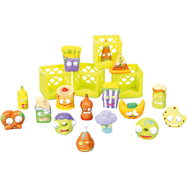 Набор Для завтрака с 16 фигурками, The Grossery GangКоллекционные фигурки<br>Набор Для завтрака с 16 фигурками, Moose (Мус)<br><br>Характеристики:<br><br>• боксы для хранения<br>• буклет с изображениями в комплекте<br>• 16 фигурок в комплекте<br>• материал: пластик<br>• размер упаковки: 20х26х5 см<br>• вес: 325 грамм<br>• в комплекте: 16 фигурок, 4 бокса, буклет<br><br>Этот набор, конечно, не подойдёт для завтрака, но зато с ним можно придумать весёлую игру. В набор входят 10 обычных и 6 эксклюзивных фигурок. Все они - испортившиеся продукты, оставленные на полках забытого супермаркета в городе Чиптаун. Эти маленькие вредные хулиганы точно не позволят заскучать! В комплект также входят боксы для хранения и красочный буклет с изображением других персонажей.<br><br>Набор Для завтрака с 16 фигурками, Moose (Мус) вы можете купить в нашем интернет-магазине.<br><br>Ширина мм: 50<br>Глубина мм: 260<br>Высота мм: 200<br>Вес г: 325<br>Возраст от месяцев: 60<br>Возраст до месяцев: 2147483647<br>Пол: Женский<br>Возраст: Детский<br>SKU: 5397305