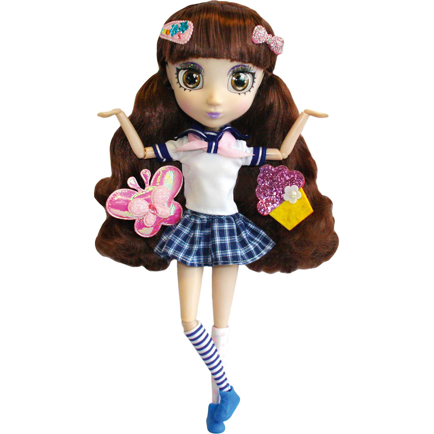 Кукла Намика, 33см, Шибадзуку ГерлзБренды кукол<br>Кукла Намика, 33см, Шибадзуку Герлз<br><br>Характеристики:<br><br>• модная кукла с реалистичными глазами<br>• длинные ресницы<br>• длинные густые волосы<br>• в комплекте: кукла, заколки, аксессуары<br>• высота куклы: 33 см<br>• материал: пластик, текстиль<br>• размер упаковки: 20,6х38,1х10,2 см<br>• вес: 600 грамм<br><br>Шибадзуку Герлз - серия кукол, завораживающих своими роскошными волосами и широкими реалистичными глазами. Например, Намика, очень увлекается астрономией и даже мечтает стать исследователем. Но и это не мешает ей выглядеть очень стильно. Кукла одета в футболочку с бантом и короткую клетчатую юбку. На ногах куклы - синие ботиночки и гольфы в полоску. Густые волосы девочки украшены модными заколочками. Вы сможете создать свою прическу для Намики, используя аксессуары и заколки, входящие в комплект. Эта кукла, без сомнения, займет достойное место в коллекции игрушек девочки!<br><br>Куклу Намика, 33см, Шибадзуку Герлз можно купить в нашем интернет-магазине.<br><br>Ширина мм: 102<br>Глубина мм: 381<br>Высота мм: 206<br>Вес г: 600<br>Возраст от месяцев: 36<br>Возраст до месяцев: 2147483647<br>Пол: Женский<br>Возраст: Детский<br>SKU: 5397312