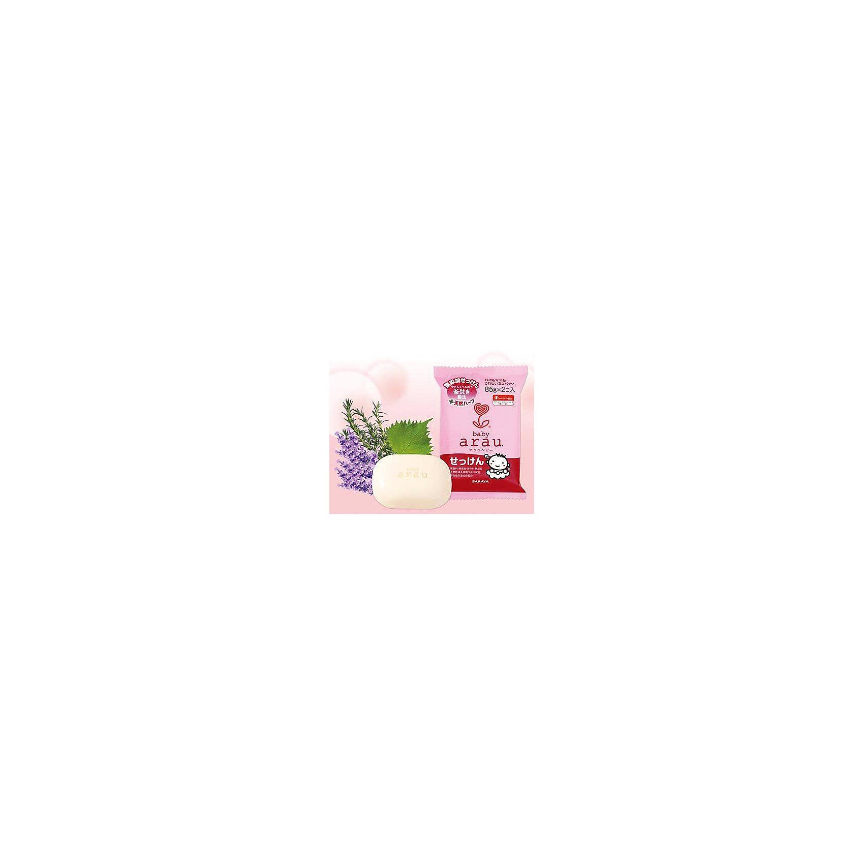 Мыло туалетное для малышей Arau Baby, 85г. , sarayaДетское мыло<br>Мыло туалетное для малышей Arau Baby, 85г. , Saraya<br><br>Характеристики:<br><br>- в набор входит: два кусочка мыла<br>- вес: 170 гр.<br>- состав: натуральная мыльная основа, вода, масло Ши, сквалан, эфирное масло лаванды, экстракт розмарина и листьев периллы, глицерин, бутиленгликоль, токоферол (витамин Е), хлорид натрия.<br>- Страна производитель: Япония<br><br>Выполненное в традиционном стиле мыло включает в себя простые и натуральные травы и ингридиенты. Обильная мыльная пена идеально подходит для ежедневного очищения лица, рук и всего тела.Мыло безопасно и деликатно для мытья ребёнка. Мыло для детей из линии по уходу за телом от японского бренда Аrau Baby (Арау Бейби) поможет добиться самого чистого, и в то же время бережного очищения. Все средства линии Аrau (Арау) оказывают бережное отношение к окружающей среде и разлагается не загрязняя её. <br><br>Природные компоненты состава этого мыла не провоцируют аллергию, формула мыла проверена дерматологами и не провоцирует раздражение. В состав входят натуральное масло лаванды, придающее мылу легкий и ненавязчивый запах, прочие ненатуральные ароматизаторы в формулу мыла не входят. Эффекты экстрактов и масел обеспечивают комплексное очищение кожи и легкое осветление. <br><br>В состав мыла не входят красители. Благодаря экстрактам из состава мыло обладает противовоспалительным и антибактериальным эффектом. Вы полюбите мыться вместе с Аrau Baby (Арау Бейби)!<br><br>Мыло туалетное для малышей Arau Baby, 85г. , Saraya можно купить в нашем интернет-магазине.<br><br>Ширина мм: 480<br>Глубина мм: 245<br>Высота мм: 110<br>Вес г: 85<br>Возраст от месяцев: 0<br>Возраст до месяцев: 36<br>Пол: Унисекс<br>Возраст: Детский<br>SKU: 5397365