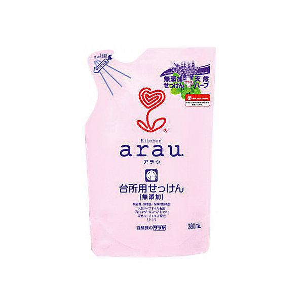Средство для мытья посуды Arau, 380 мл., sarayaДетская бытовая химия<br>Средство для мытья посуды Arau, наполнитель, 380 мл., Saraya<br><br>Характеристики:<br><br>- объем: 380 мл.<br>- состав: Чистое мыло (30% калиевые соли жирных кислот)<br>- область применения: посуда, кухонные поверхности, овощи, фрукты<br>- cтрана производитель: Япония<br><br>Густая, обильная пена смоет жир и загрязнения, оставляя скрипящую чистоту и блеск на вашей посуде. Отлично отмывает пластиковые контейнеры и ланчбоксы, быстро смывается. Удобная упаковка этого наполнителя позволит наполнить бутылочку один раз. <br><br>Средство полностью натурально и не будет раздражать руки, как это делают синтетические средства. Вся продукция линии Аrau (Арау) оказывают бережное отношение к окружающей среде и разлагается не загрязняя её. <br><br>Природные компоненты состава этого средства не провоцируют аллергию, формула проверена дерматологами и не провоцирует раздражение. Ненатуральные ароматизаторы или красители в формулу не входят. Средство можно использовать для мытья детских игрушек и посуды. Безупречная чистота с безопасным составом от Аrau (Арау) придет вам по вкусу!<br><br>Средство для мытья посуды Arau, 380 мл., наполнитель, Saraya можно купить в нашем интернет-магазине.<br><br>Ширина мм: 400<br>Глубина мм: 280<br>Высота мм: 215<br>Вес г: 384<br>Возраст от месяцев: 216<br>Возраст до месяцев: 1188<br>Пол: Унисекс<br>Возраст: Детский<br>SKU: 5397375