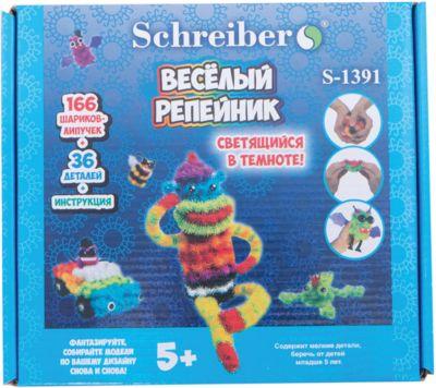 Schreiber Конструктор-липучка Веселый репейник светящийся в темноте (202 детали)