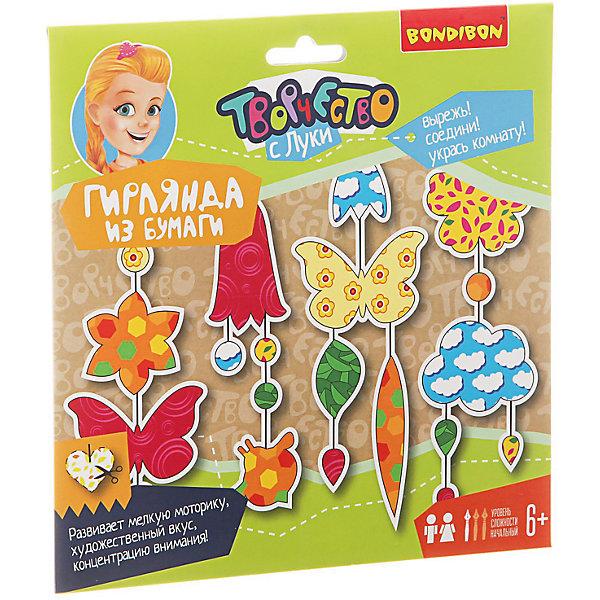 Гирлянда из бумаги Цветочная поляна, BondibonНаборы для оригами<br>Киригами это - вид оригами, который предполагает фигурное вырезание бумажных деталей при помощи ножниц. С наборами от Bondibon ваш ребенок с легкостью освоит новую технику и придумает красочные гирлянды для украшения своей комнаты!<br>Ширина мм: 230; Глубина мм: 5; Высота мм: 230; Вес г: 62; Возраст от месяцев: 72; Возраст до месяцев: 192; Пол: Унисекс; Возраст: Детский; SKU: 5398967;