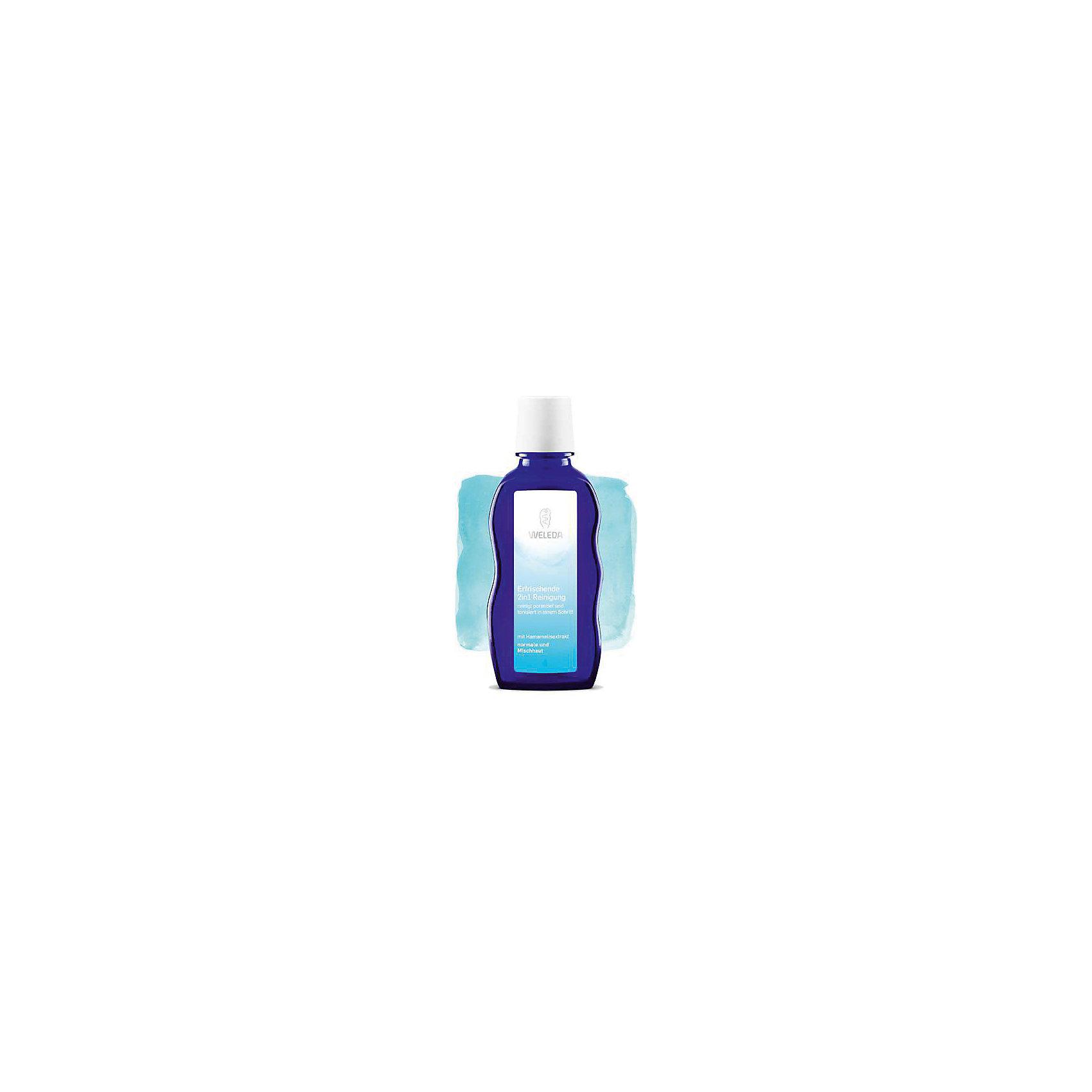 Средство освежающее очищающее 2 в 1 для нормальной и смешанной кожи, 100 мл., Weleda