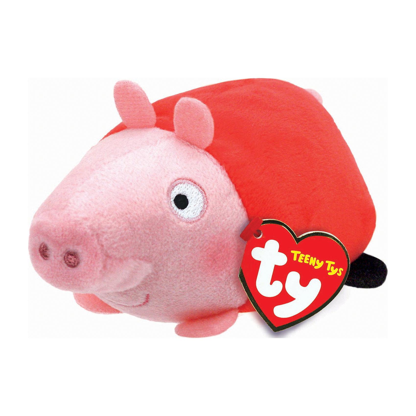 Мягкая игрушка Свинка Пеппа, 11х7х5 см, Teeny Tys, TyЛюбимые герои<br>Мягкая игрушка Свинка Пеппа, 11х7х5 см, Teeny Tys, Ty (Тай)<br><br>Характеристики:<br><br>• способствует развитию мелкой моторики<br>• приятная на ощупь<br>• не содержит опасных элементов<br>• размер игрушки: 11х7х5 см<br>• не содержит токсичных материалов, опасных для здоровья ребёнка<br>• материал: текстиль, наполнитель<br>• вес: 23 грамма<br><br>Маленькие поклонники мультсериала Свинка Пеппа будут в восторге от этой замечательной игрушки. Узнаваемый образ главной героини мультика понравится и детям, и взрослым. Глазки и пятачок свинки вышиты. Игрушка не имеет мелких, опасных элементов, которые могут поранить малыша. Свинка имеет небольшой размер, поэтому игра поможет развить мелкую моторику рук крохи.<br><br>Мягкую игрушку Свинка Пеппа, 11х7х5 см, Teeny Tys, Ty (Тай) можно купить в нашем интернет-магазине.<br><br>Ширина мм: 70<br>Глубина мм: 50<br>Высота мм: 110<br>Вес г: 23<br>Возраст от месяцев: 36<br>Возраст до месяцев: 144<br>Пол: Унисекс<br>Возраст: Детский<br>SKU: 5399793