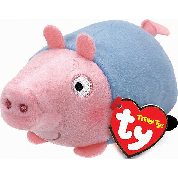 Мягкая игрушка Свинка Джордж, 11х7х5 см, Teeny Tys, TyМягкие игрушки из мультфильмов<br>Мягкая игрушка Свинка Джордж, 11х7х5 см, Teeny Tys, Ty (Тай)<br><br>Характеристики:<br><br>• способствует развитию мелкой моторики<br>• приятная на ощупь<br>• не содержит опасных элементов<br>• размер игрушки: 11х7х5 см<br>• не содержит токсичных материалов, опасных для здоровья ребёнка<br>• материал: текстиль, наполнитель<br>• вес: 23 грамма<br><br>Маленькие поклонники мультсериала Свинка Пеппа будут в восторге от этой замечательной игрушки. Узнаваемый образ главного героя мультика понравится и детям, и взрослым. Глазки и пятачок Джорджа вышиты. Игрушка не имеет мелких, опасных элементов, которые могут поранить малыша. Свинка имеет небольшой размер, поэтому игра поможет развить мелкую моторику рук крохи.<br><br>Мягкую игрушку Свинка Джордж, 11х7х5 см, Teeny Tys, Ty (Тай) вы можете купить в нашем интернет-магазине.<br><br>Ширина мм: 70<br>Глубина мм: 50<br>Высота мм: 110<br>Вес г: 23<br>Возраст от месяцев: 36<br>Возраст до месяцев: 144<br>Пол: Унисекс<br>Возраст: Детский<br>SKU: 5399794