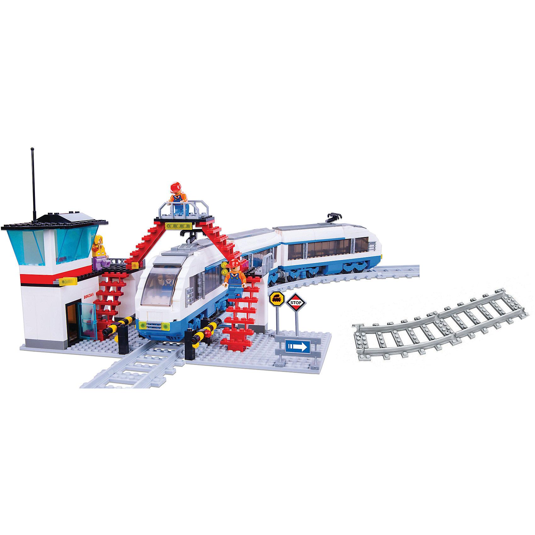 Железная дорога Конструктор Скоростной экспресс, Голубая стрелаИгрушечная железная дорога<br>Железная дорога Конструктор Скоростной экспресс, Голубая стрела.<br><br>Характеристики:<br><br>• Комплектация: прямые рельсы - 4 шт., изогнутые рельсы- 16 шт., фигурки людей, железнодорожные знаки, станция с платформой и мостом, элементы для сборки<br>• Количество деталей: 888<br>• Размер железной дороги: 700х960 мм.<br>• Материал: пластик<br>• Упаковка: картонная коробка<br>• Размер упаковки: 47x35x7 см.<br><br>«Скоростной экспресс» - блочный конструктор, в котором 888 деталей! Из деталей конструктора ваш ребенок соберет железнодорожное полотно овальной формы и современный поезд. Локомотив и вагоны легко сцепляются друг с другом. Лобовое стекло локомотива откидывается. <br><br>Также для полноценной сюжетной игры в комплекте имеются станция с платформой и мостом, железнодорожные знаки и фигурки людей. Собирая детали конструктора, ребенок разовьет воображение, мелкую моторику рук, пространственное и логическое мышление. Все наборы серии совместимы между собой.<br><br>Железную дорогу Конструктор Скоростной экспресс, Голубая стрела можно купить в нашем интернет-магазине.<br><br>Ширина мм: 470<br>Глубина мм: 350<br>Высота мм: 65<br>Вес г: 2275<br>Возраст от месяцев: 72<br>Возраст до месяцев: 2147483647<br>Пол: Мужской<br>Возраст: Детский<br>SKU: 5400252
