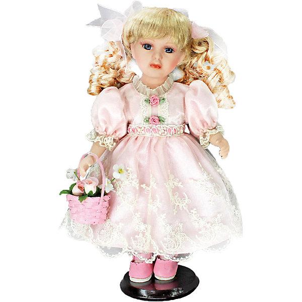 Фарфоровая кукла Келли, Angel CollectionКуклы<br>Фарфоровая кукла Келли, Angel Collection.<br><br>Характеристики:<br><br>• Высота куклы: 30,5 см.<br>• Материал: фарфор, текстиль.<br>• Упаковка: картонная коробка блистерного типа<br><br>Фарфоровая кукла Келли, Angel Collection представляет собой изящно выполненную куклу на подставке, выглядящую невероятно реалистично. Весь образ куклы тщательно продуман и детализирован. Кукла очаровывает с первого взгляда. У Келли золотистые кудри, которые переливаются на свету, большие глаза в обрамлении длинных густых ресничек и ангельское кукольное личико. Одета кукла в нежное однотонное платьице из атласа, на ногах туфельки, а в руках она держит корзинку с розами. <br><br>Фарфоровая красавица Келли - это не просто игрушка, а также украшение для интерьера или ценный экспонат коллекции. Каждая кукла в серии Angel Collection, обладает неповторимым образом - принцессы, феи, маленькие девочки, роскошные невесты и т.д. Изысканные наряды и очаровательная матовость фарфора превращают этих кукол в настоящее произведение искусства. Куклы Angel Collection сделаны из уникальной голубой глины, добываемой только в провинции Tai-Nan Shin, Тайвань.<br><br>Фарфоровую куклу Келли, Angel Collection можно купить в нашем интернет-магазине.<br><br>Ширина мм: 145<br>Глубина мм: 320<br>Высота мм: 95<br>Вес г: 667<br>Возраст от месяцев: 36<br>Возраст до месяцев: 2147483647<br>Пол: Женский<br>Возраст: Детский<br>SKU: 5400273