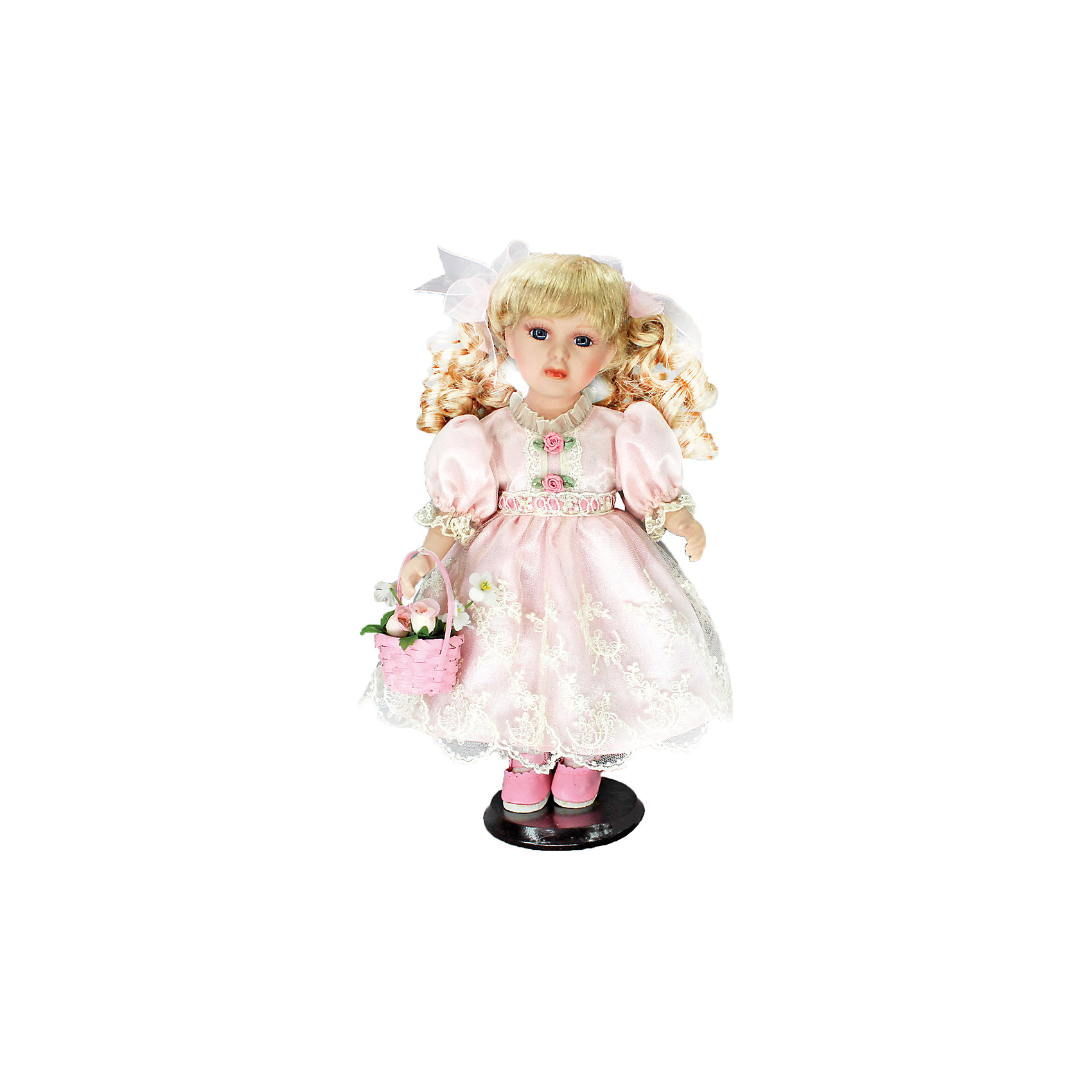 Фарфоровая кукла Келли, Angel CollectionБренды кукол<br>Фарфоровая кукла Келли, Angel Collection.<br><br>Характеристики:<br><br>• Высота куклы: 30,5 см.<br>• Материал: фарфор, текстиль.<br>• Упаковка: картонная коробка блистерного типа<br><br>Фарфоровая кукла Келли, Angel Collection представляет собой изящно выполненную куклу на подставке, выглядящую невероятно реалистично. Весь образ куклы тщательно продуман и детализирован. Кукла очаровывает с первого взгляда. У Келли золотистые кудри, которые переливаются на свету, большие глаза в обрамлении длинных густых ресничек и ангельское кукольное личико. Одета кукла в нежное однотонное платьице из атласа, на ногах туфельки, а в руках она держит корзинку с розами. <br><br>Фарфоровая красавица Келли - это не просто игрушка, а также украшение для интерьера или ценный экспонат коллекции. Каждая кукла в серии Angel Collection, обладает неповторимым образом - принцессы, феи, маленькие девочки, роскошные невесты и т.д. Изысканные наряды и очаровательная матовость фарфора превращают этих кукол в настоящее произведение искусства. Куклы Angel Collection сделаны из уникальной голубой глины, добываемой только в провинции Tai-Nan Shin, Тайвань.<br><br>Фарфоровую куклу Келли, Angel Collection можно купить в нашем интернет-магазине.<br><br>Ширина мм: 145<br>Глубина мм: 320<br>Высота мм: 95<br>Вес г: 667<br>Возраст от месяцев: 36<br>Возраст до месяцев: 2147483647<br>Пол: Женский<br>Возраст: Детский<br>SKU: 5400273
