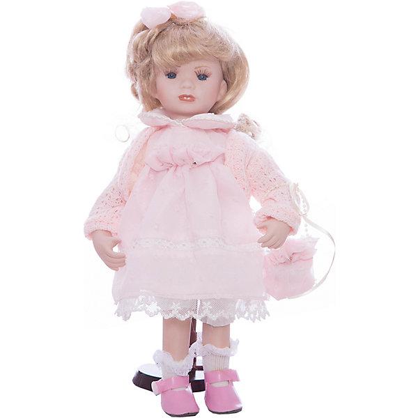 Фарфоровая кукла Ханна, Angel CollectionКуклы<br>Фарфоровая кукла Ханна, Angel Collection.<br><br>Характеристики:<br><br>• Высота куклы: 30,5 см.<br>• Материал: фарфор, текстиль<br>• Упаковка: картонная коробка блистерного типа<br><br>Фарфоровая кукла Ханна, Angel Collection представляет собой изящно выполненную куклу на подставке, выглядящую невероятно реалистично. Весь образ куклы тщательно продуман и детализирован. Кукла очаровывает с первого взгляда. У Ханны светлые волосы, собранные бантиком, большие глаза и ангельское кукольное личико. Одета кукла в прелестное платье с кружевные оборками, вязанную кофточку и туфельки, в руках - сумочка. <br><br>Фарфоровая красавица Ханна - это не просто игрушка, а также украшение для интерьера или ценный экспонат коллекции. Каждая кукла в серии Angel Collection, обладает неповторимым образом - принцессы, феи, маленькие девочки, роскошные невесты и т.д. Изысканные наряды и очаровательная матовость фарфора превращают этих кукол в настоящее произведение искусства. Куклы Angel Collection сделаны из уникальной голубой глины, добываемой только в провинции Tai-Nan Shin, Тайвань.<br><br>Фарфоровую куклу Ханна, Angel Collection можно купить в нашем интернет-магазине.<br><br>Ширина мм: 145<br>Глубина мм: 320<br>Высота мм: 95<br>Вес г: 667<br>Возраст от месяцев: 36<br>Возраст до месяцев: 2147483647<br>Пол: Женский<br>Возраст: Детский<br>SKU: 5400276