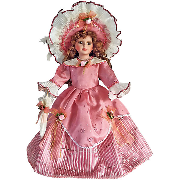 Фарфоровая кукла Оделия, Angel CollectionКуклы<br>Фарфоровая кукла Оделия, Angel Collection.<br><br>Характеристики:<br><br>• Высота куклы: 40,5 см.<br>• Материал: фарфор, текстиль<br>• Упаковка: картонная коробка блистерного типа<br><br>Фарфоровая кукла «Оделия», Angel Collection изготовлена с большим вниманием к мелким деталям, благодаря этому она очень красива и привлекательна. Голову куклы украшает шляпа с очень широкими полями, из-под которой спадают на плечи длинные русые локоны. Кукла одета в платье с длинными рукавами розового цвета, украшенное розочками. У Оделии большие глаза в обрамлении длинных ресничек и ангельское кукольное личико. Кукла установлена на специальную подставку. <br><br>Фарфоровая красавица Оделия - это не просто игрушка, а также украшение для интерьера или ценный экспонат коллекции. Каждая кукла в серии Angel Collection, обладает неповторимым образом - принцессы, феи, маленькие девочки, роскошные невесты и т.д. Изысканные наряды и очаровательная матовость фарфора превращают этих кукол в настоящее произведение искусства. Куклы Angel Collection сделаны из уникальной голубой глины, добываемой только в провинции Tai-Nan Shin, Тайвань.<br><br>Фарфоровую куклу Оделия, Angel Collection можно купить в нашем интернет-магазине.<br><br>Ширина мм: 190<br>Глубина мм: 430<br>Высота мм: 100<br>Вес г: 938<br>Возраст от месяцев: 36<br>Возраст до месяцев: 2147483647<br>Пол: Женский<br>Возраст: Детский<br>SKU: 5400280