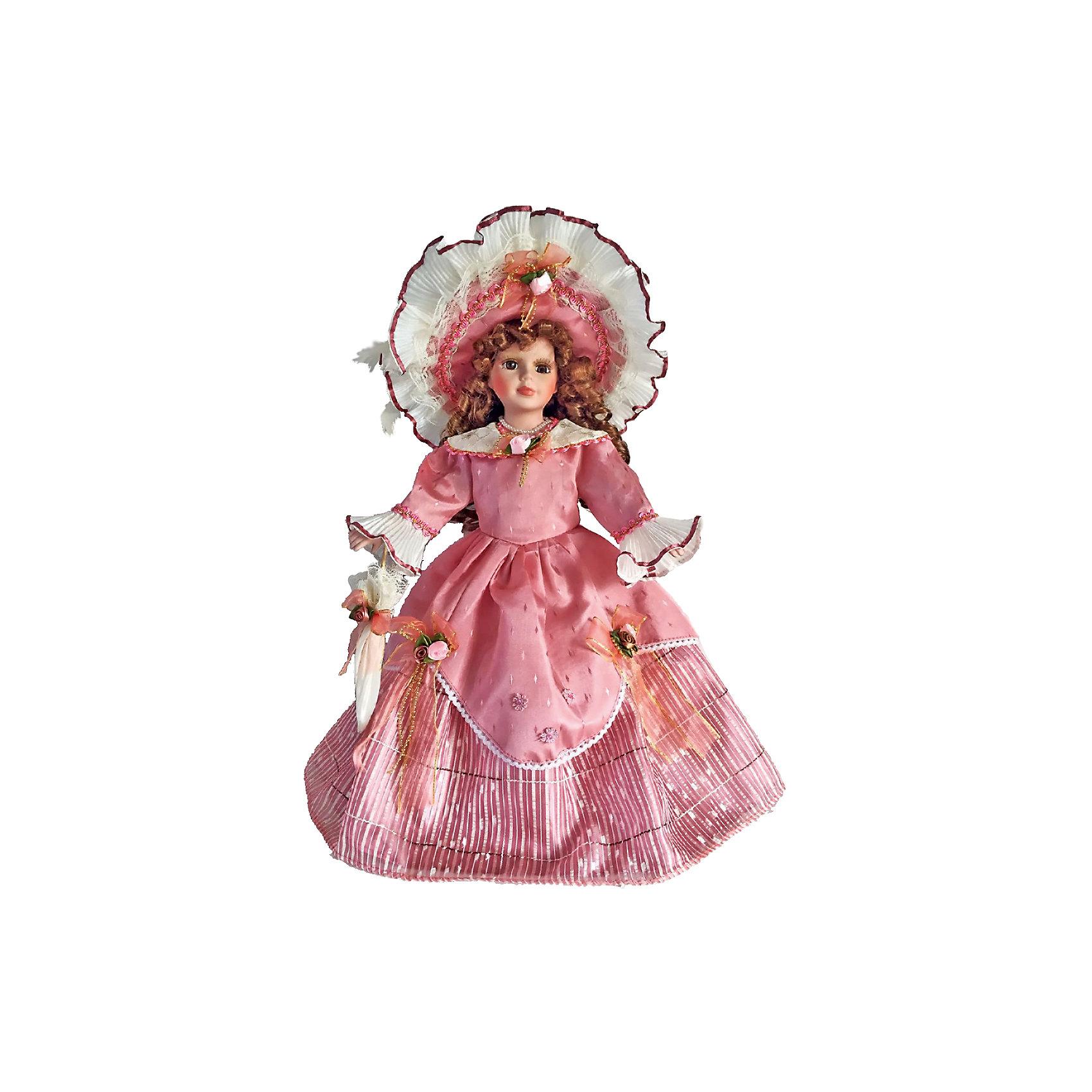 Фарфоровая кукла Оделия, Angel CollectionБренды кукол<br>Фарфоровая кукла Оделия, Angel Collection.<br><br>Характеристики:<br><br>• Высота куклы: 40,5 см.<br>• Материал: фарфор, текстиль<br>• Упаковка: картонная коробка блистерного типа<br><br>Фарфоровая кукла «Оделия», Angel Collection изготовлена с большим вниманием к мелким деталям, благодаря этому она очень красива и привлекательна. Голову куклы украшает шляпа с очень широкими полями, из-под которой спадают на плечи длинные русые локоны. Кукла одета в платье с длинными рукавами розового цвета, украшенное розочками. У Оделии большие глаза в обрамлении длинных ресничек и ангельское кукольное личико. Кукла установлена на специальную подставку. <br><br>Фарфоровая красавица Оделия - это не просто игрушка, а также украшение для интерьера или ценный экспонат коллекции. Каждая кукла в серии Angel Collection, обладает неповторимым образом - принцессы, феи, маленькие девочки, роскошные невесты и т.д. Изысканные наряды и очаровательная матовость фарфора превращают этих кукол в настоящее произведение искусства. Куклы Angel Collection сделаны из уникальной голубой глины, добываемой только в провинции Tai-Nan Shin, Тайвань.<br><br>Фарфоровую куклу Оделия, Angel Collection можно купить в нашем интернет-магазине.<br><br>Ширина мм: 190<br>Глубина мм: 430<br>Высота мм: 100<br>Вес г: 938<br>Возраст от месяцев: 36<br>Возраст до месяцев: 2147483647<br>Пол: Женский<br>Возраст: Детский<br>SKU: 5400280
