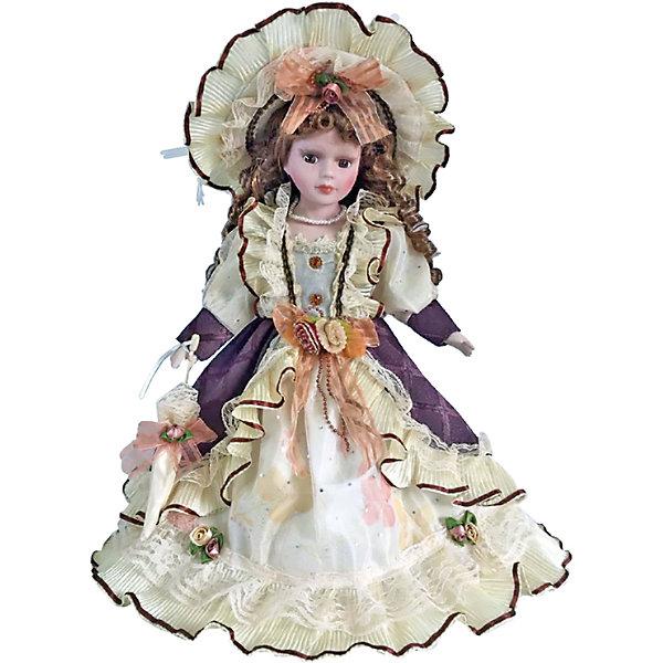 Фарфоровая кукла Паола, Angel CollectionКуклы<br>Фарфоровая кукла Паола, Angel Collection.<br><br>Характеристики:<br><br>• Высота куклы: 40,5 см.<br>• Материал: фарфор, текстиль<br>• Упаковка: картонная коробка блистерного типа<br><br>Фарфоровая кукла «Паола», Angel Collection изготовлена с большим вниманием к мелким деталям, благодаря этому она очень красива и привлекательна. Голову куклы украшает шляпа с очень широкими полями, из-под которой спадают на плечи длинные русые локоны. Кукла одета в пышное платье с длинными рукавами. У Паолы большие глаза в обрамлении длинных ресничек и ангельское кукольное личико. Кукла установлена на специальную подставку. <br><br>Фарфоровая красавица Паола - это не просто игрушка, а также украшение для интерьера или ценный экспонат коллекции. Каждая кукла в серии Angel Collection, обладает неповторимым образом - принцессы, феи, маленькие девочки, роскошные невесты и т.д. Изысканные наряды и очаровательная матовость фарфора превращают этих кукол в настоящее произведение искусства. Куклы Angel Collection сделаны из уникальной голубой глины, добываемой только в провинции Tai-Nan Shin, Тайвань.<br><br>Фарфоровую куклу Паола, Angel Collection можно купить в нашем интернет-магазине.<br><br>Ширина мм: 190<br>Глубина мм: 430<br>Высота мм: 100<br>Вес г: 938<br>Возраст от месяцев: 36<br>Возраст до месяцев: 2147483647<br>Пол: Женский<br>Возраст: Детский<br>SKU: 5400281