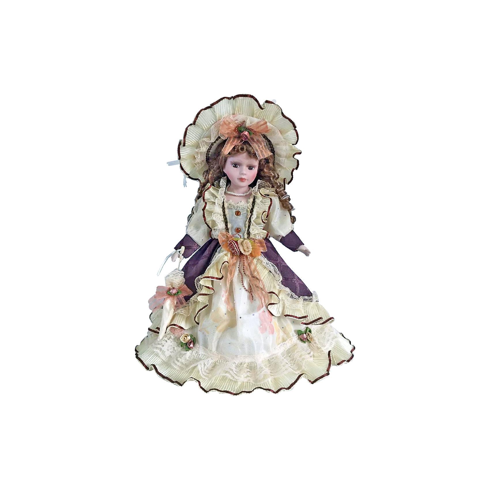 Фарфоровая кукла Паола, Angel CollectionБренды кукол<br>Фарфоровая кукла Паола, Angel Collection.<br><br>Характеристики:<br><br>• Высота куклы: 40,5 см.<br>• Материал: фарфор, текстиль<br>• Упаковка: картонная коробка блистерного типа<br><br>Фарфоровая кукла «Паола», Angel Collection изготовлена с большим вниманием к мелким деталям, благодаря этому она очень красива и привлекательна. Голову куклы украшает шляпа с очень широкими полями, из-под которой спадают на плечи длинные русые локоны. Кукла одета в пышное платье с длинными рукавами. У Паолы большие глаза в обрамлении длинных ресничек и ангельское кукольное личико. Кукла установлена на специальную подставку. <br><br>Фарфоровая красавица Паола - это не просто игрушка, а также украшение для интерьера или ценный экспонат коллекции. Каждая кукла в серии Angel Collection, обладает неповторимым образом - принцессы, феи, маленькие девочки, роскошные невесты и т.д. Изысканные наряды и очаровательная матовость фарфора превращают этих кукол в настоящее произведение искусства. Куклы Angel Collection сделаны из уникальной голубой глины, добываемой только в провинции Tai-Nan Shin, Тайвань.<br><br>Фарфоровую куклу Паола, Angel Collection можно купить в нашем интернет-магазине.<br><br>Ширина мм: 190<br>Глубина мм: 430<br>Высота мм: 100<br>Вес г: 938<br>Возраст от месяцев: 36<br>Возраст до месяцев: 2147483647<br>Пол: Женский<br>Возраст: Детский<br>SKU: 5400281