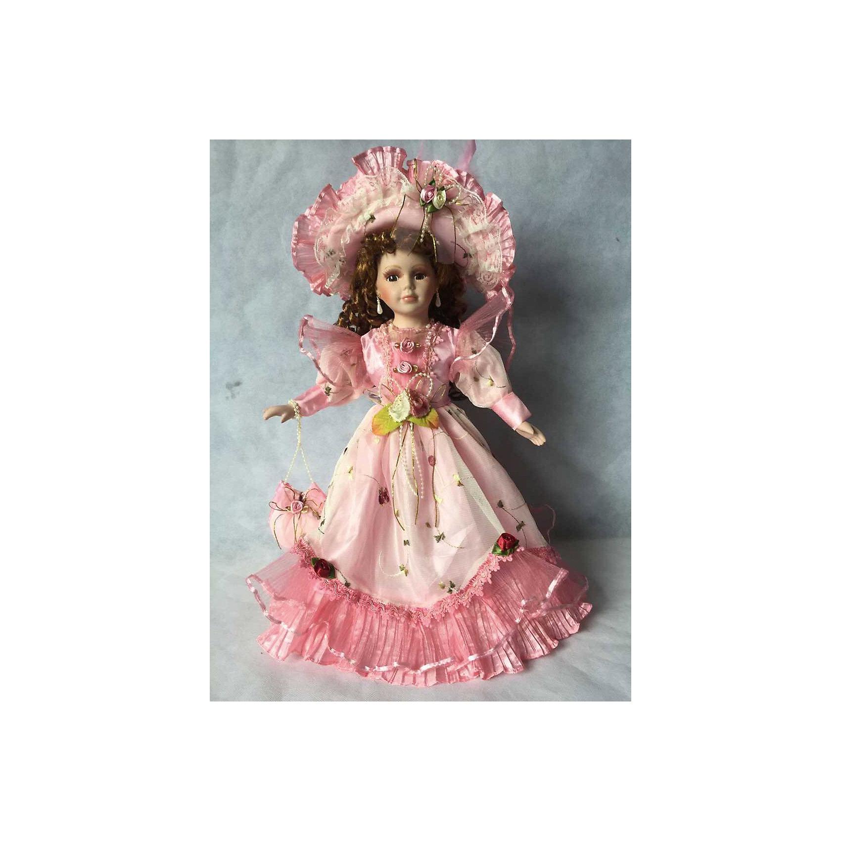 Фарфоровая кукла Миранда, Angel CollectionБренды кукол<br>Фарфоровая кукла Миранда, Angel Collection.<br><br>Характеристики:<br><br>• Высота куклы: 40,5 см.<br>• Материал: фарфор, текстиль<br>• Упаковка: картонная коробка блистерного типа<br><br>Фарфоровая кукла «Миранда», Angel Collection само воплощение прелести и очарования, выраженное во внешнем облике куклы. Длинные волосы Миранды туго завиты в локоны и красиво обрамляют ее милое личико с большими глазами и пухлыми губками. Одета кукла в шикарное платье в пол, а на голове у нее красуется широкополая шляпка. В руках кукла держит сумочку. Кукла установлена на специальную подставку. <br><br>Фарфоровая красавица Миранда - это не просто игрушка, а также украшение для интерьера или ценный экспонат коллекции. Каждая кукла в серии Angel Collection, обладает неповторимым образом - принцессы, феи, маленькие девочки, роскошные невесты и т.д. Изысканные наряды и очаровательная матовость фарфора превращают этих кукол в настоящее произведение искусства. Куклы Angel Collection сделаны из уникальной голубой глины, добываемой только в провинции Tai-Nan Shin, Тайвань.<br><br>Фарфоровую куклу Миранда, Angel Collection можно купить в нашем интернет-магазине.<br><br>Ширина мм: 160<br>Глубина мм: 420<br>Высота мм: 95<br>Вес г: 583<br>Возраст от месяцев: 36<br>Возраст до месяцев: 2147483647<br>Пол: Женский<br>Возраст: Детский<br>SKU: 5400283