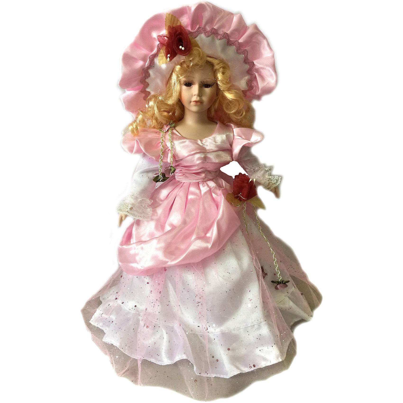 Фарфоровая кукла Адэлина, 40 см, Angel CollectionБренды кукол<br>Фарфоровая кукла Адэлина, 40 см, Angel Collection.<br><br>Характеристики:<br><br>• Высота куклы: 40 см.<br>• Материал: фарфор, текстиль<br>• Упаковка: картонная коробка блистерного типа<br><br>Фарфоровая кукла «Адэлина», Angel Collection изготовлена с большим вниманием к мелким деталям, благодаря этому она очень красива и привлекательна. Голову куклы украшает шляпка, из-под которой спадают на плечи длинные светлые локоны. Кукла одета красивое розовое платье. У Адэлины большие глаза в обрамлении длинных ресничек и ангельское кукольное личико. Кукла установлена на специальную подставку. <br><br>Фарфоровая красавица Адэлина - это не просто игрушка, а также украшение для интерьера или ценный экспонат коллекции. Каждая кукла в серии Angel Collection, обладает неповторимым образом - принцессы, феи, маленькие девочки, роскошные невесты и т.д. Изысканные наряды и очаровательная матовость фарфора превращают этих кукол в настоящее произведение искусства. Куклы Angel Collection сделаны из уникальной голубой глины, добываемой только в провинции Tai-Nan Shin, Тайвань.<br><br>Фарфоровую куклу Адэлина, 40 см, Angel Collection можно купить в нашем интернет-магазине.<br><br>Ширина мм: 160<br>Глубина мм: 420<br>Высота мм: 95<br>Вес г: 833<br>Возраст от месяцев: 36<br>Возраст до месяцев: 2147483647<br>Пол: Женский<br>Возраст: Детский<br>SKU: 5400284