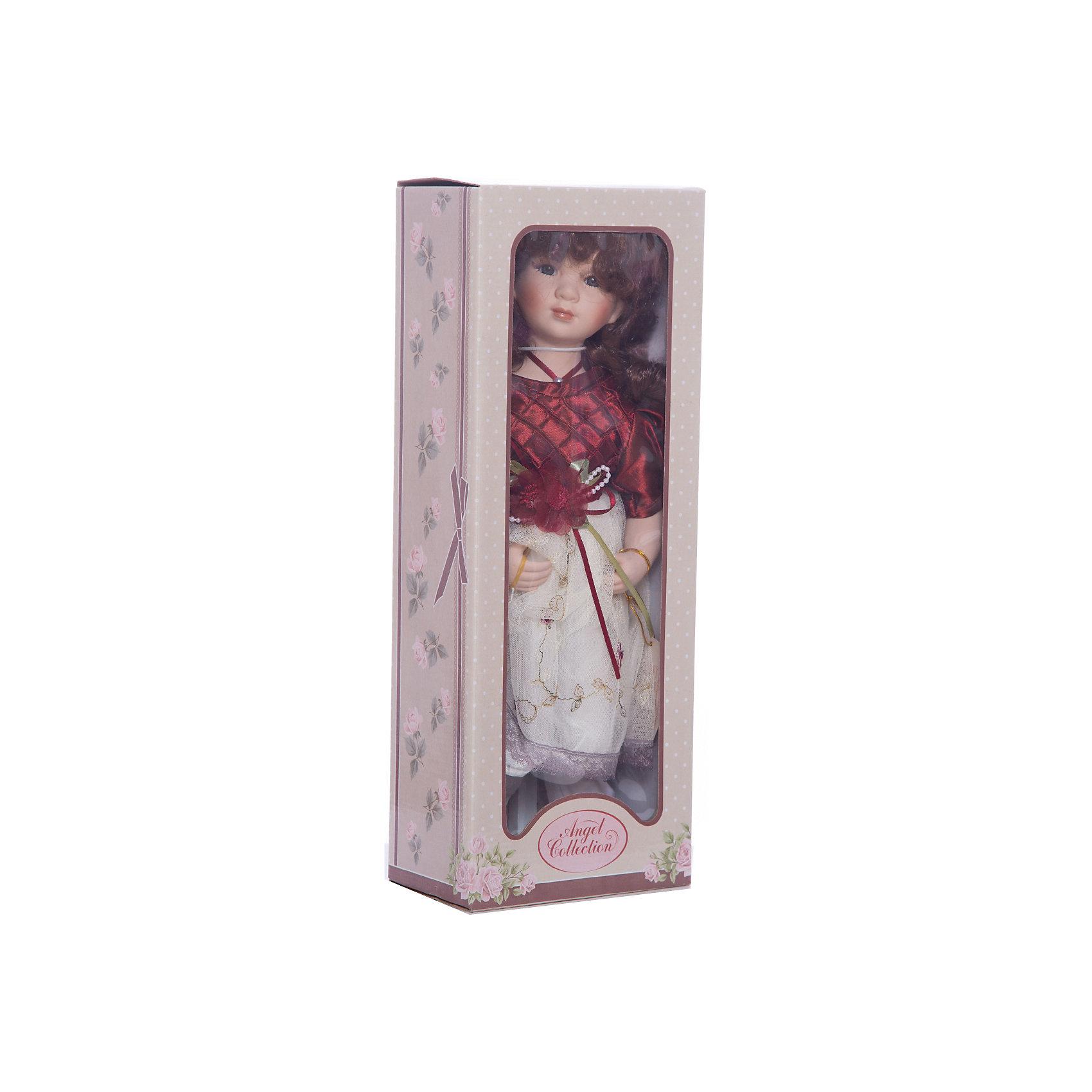 Фарфоровая кукла Венди, 40 см, Angel CollectionБренды кукол<br>Фарфоровая кукла Венди, 40 см, Angel Collection.<br><br>Характеристики:<br><br>• Высота куклы: 40 см.<br>• Материал: фарфор, текстиль<br>• Упаковка: картонная коробка блистерного типа<br><br>Фарфоровая кукла «Венди», Angel Collection изготовлена с большим вниманием к мелким деталям, благодаря этому она очень красива и привлекательна. Кудрявые волосы куклы выглядят как настоящие, а блеск в глазах, которого производитель добился благодаря специальному стеклу в составе, делает Венди живой. Кукла одета в красивое платье с пышной юбочкой, на ногах – туфельки, в руках - зонтик. Кукла установлена на специальную подставку. <br><br>Фарфоровая красавица Венди - это не просто игрушка, а также украшение для интерьера или ценный экспонат коллекции. Каждая кукла в серии Angel Collection, обладает неповторимым образом - принцессы, феи, маленькие девочки, роскошные невесты и т.д. Изысканные наряды и очаровательная матовость фарфора превращают этих кукол в настоящее произведение искусства. Куклы Angel Collection сделаны из уникальной голубой глины, добываемой только в провинции Tai-Nan Shin, Тайвань.<br><br>Фарфоровую куклу Венди, 40 см, Angel Collection можно купить в нашем интернет-магазине.<br><br>Ширина мм: 160<br>Глубина мм: 420<br>Высота мм: 95<br>Вес г: 833<br>Возраст от месяцев: 36<br>Возраст до месяцев: 2147483647<br>Пол: Женский<br>Возраст: Детский<br>SKU: 5400286